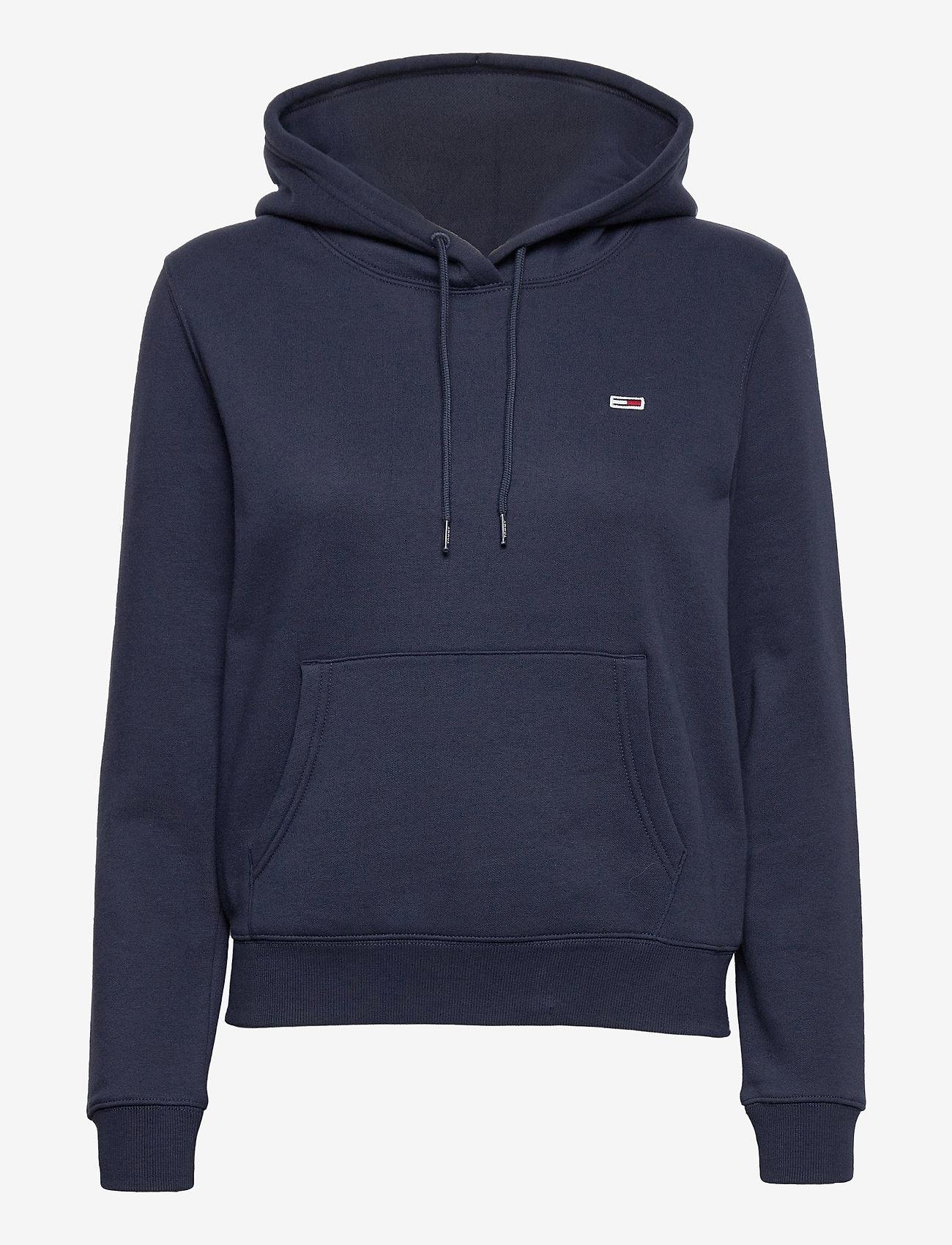 Tommy Jeans - TJW REGULAR FLEECE HOODIE - sweatshirts & hoodies - twilight navy - 0