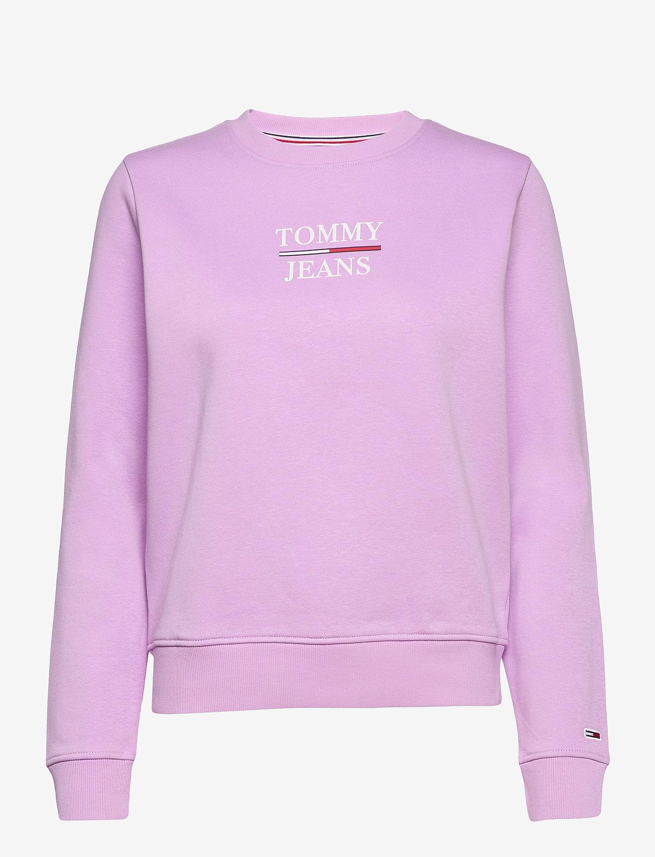 Tommy Jeans - TJW SLIM LOGO CREW - sweatshirts & hoodies - fresh orchid - 0