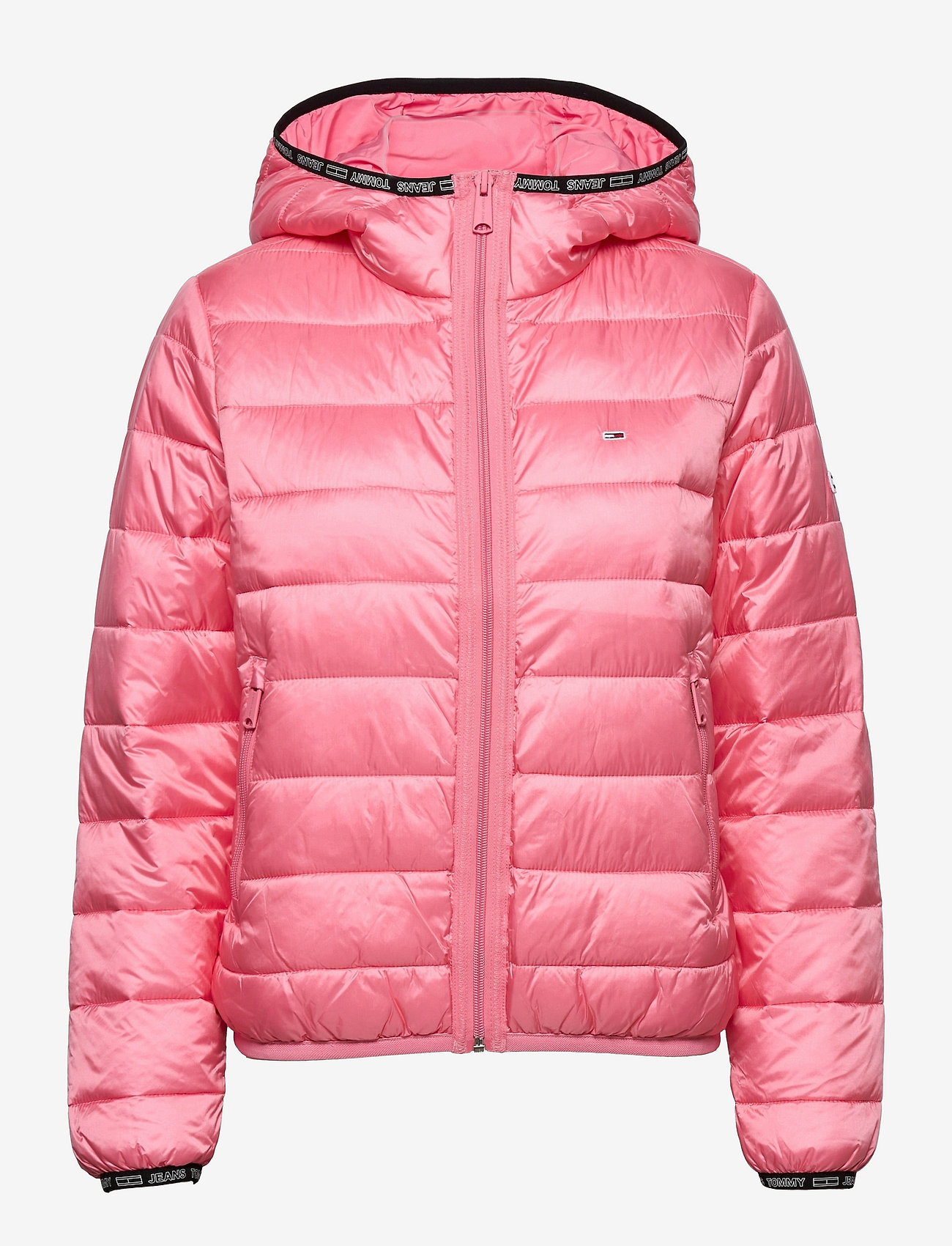 Tommy Jeans - TJW QUILTED TAPE HOODED JACKET - winter jackets - botanical pink - 0