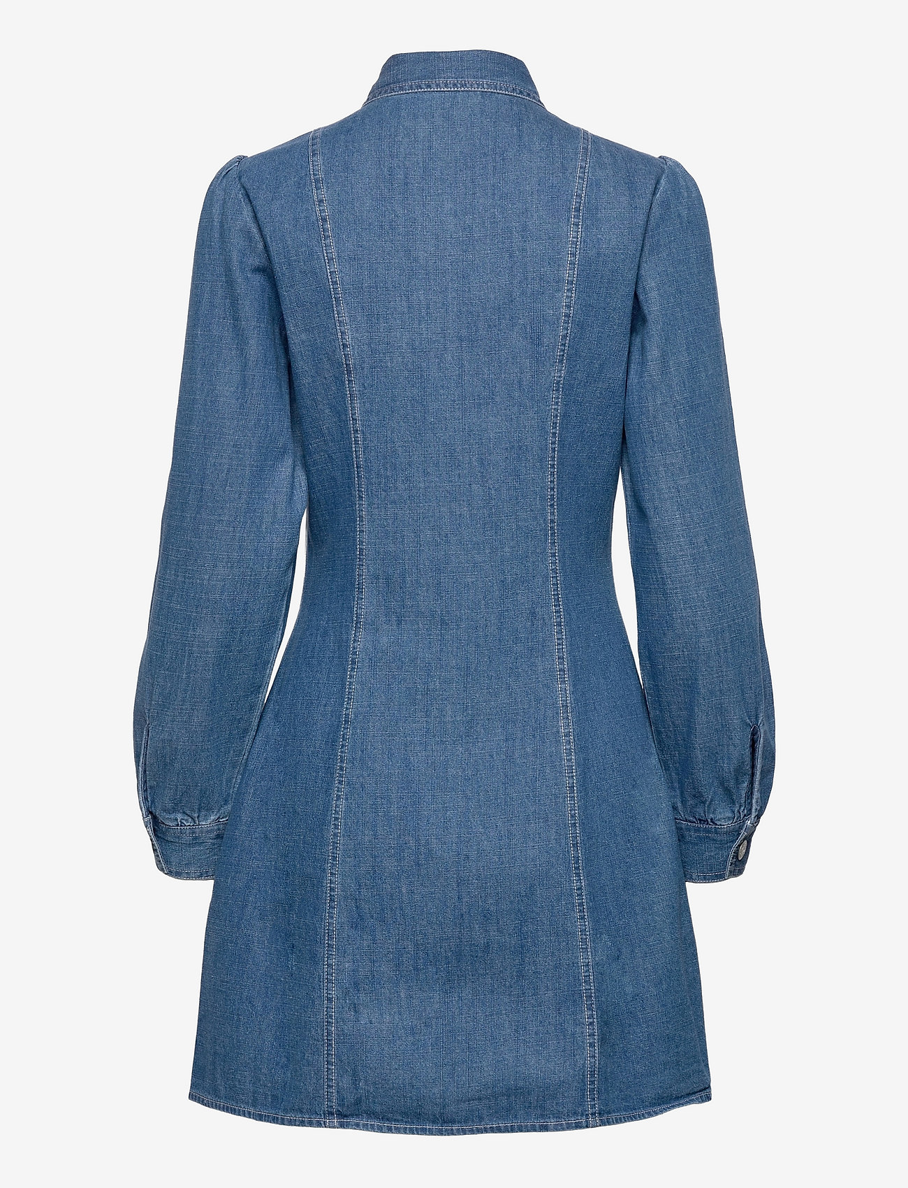 Tommy Jeans - TJW CHAMBRAY SHIRT DRESS - summer dresses - mid indigo - 1