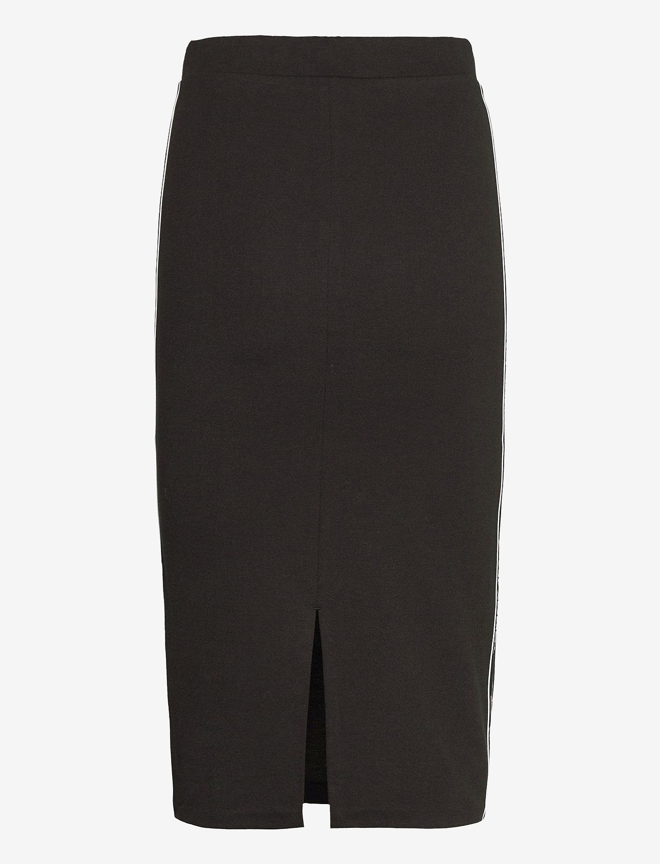 Tommy Jeans - TJW BODYCON TAPE DETAIL SKIRT - midi kjolar - black - 1