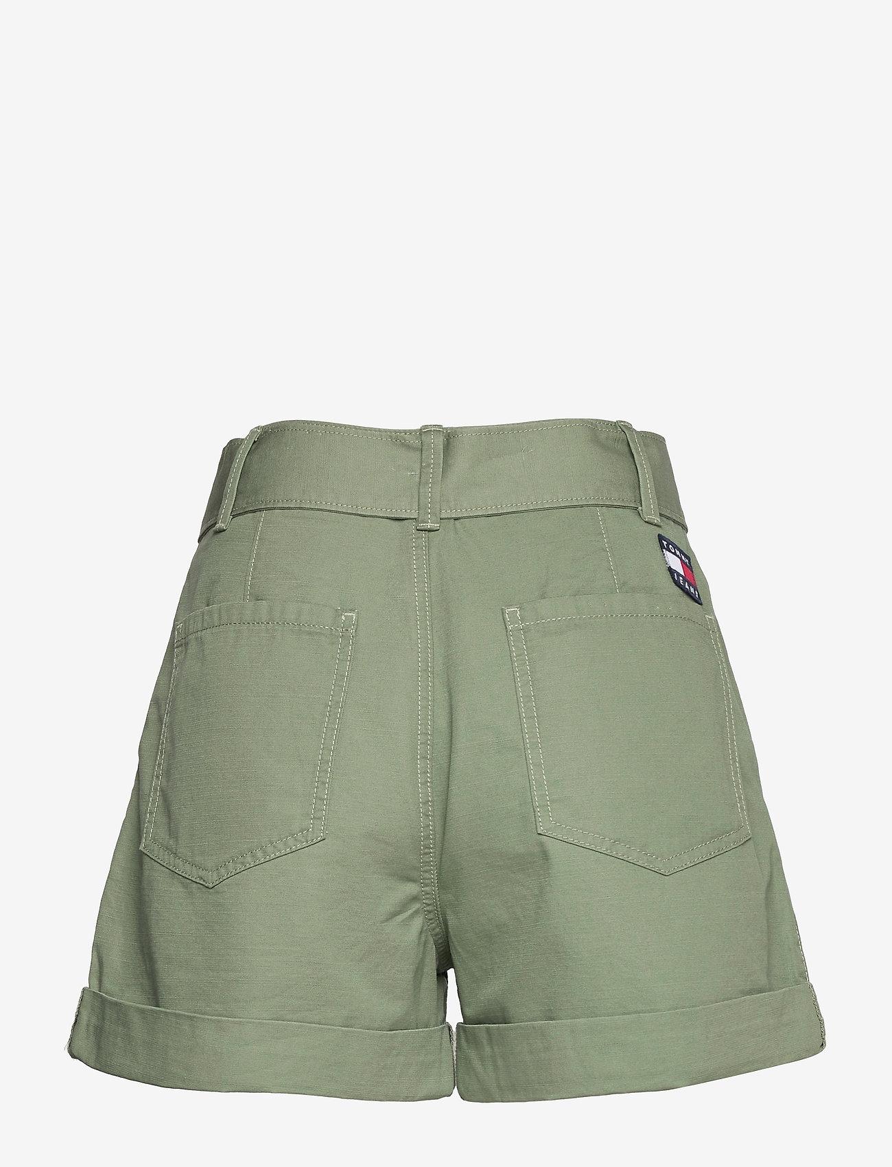 Tommy Jeans - TJW MOM BELTED SHORT - paper bag shorts - desert olive - 1