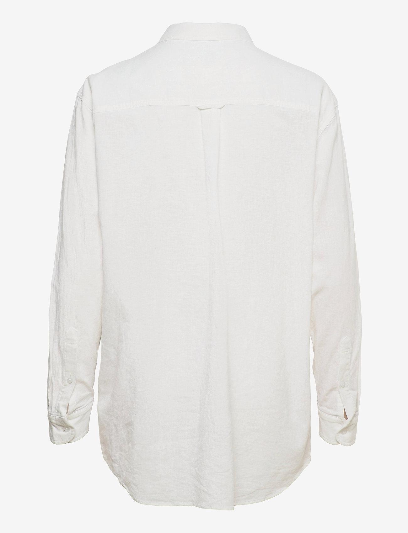 Tommy Jeans - TJW RELAXED LONG  SHIRT - långärmade skjortor - white - 1