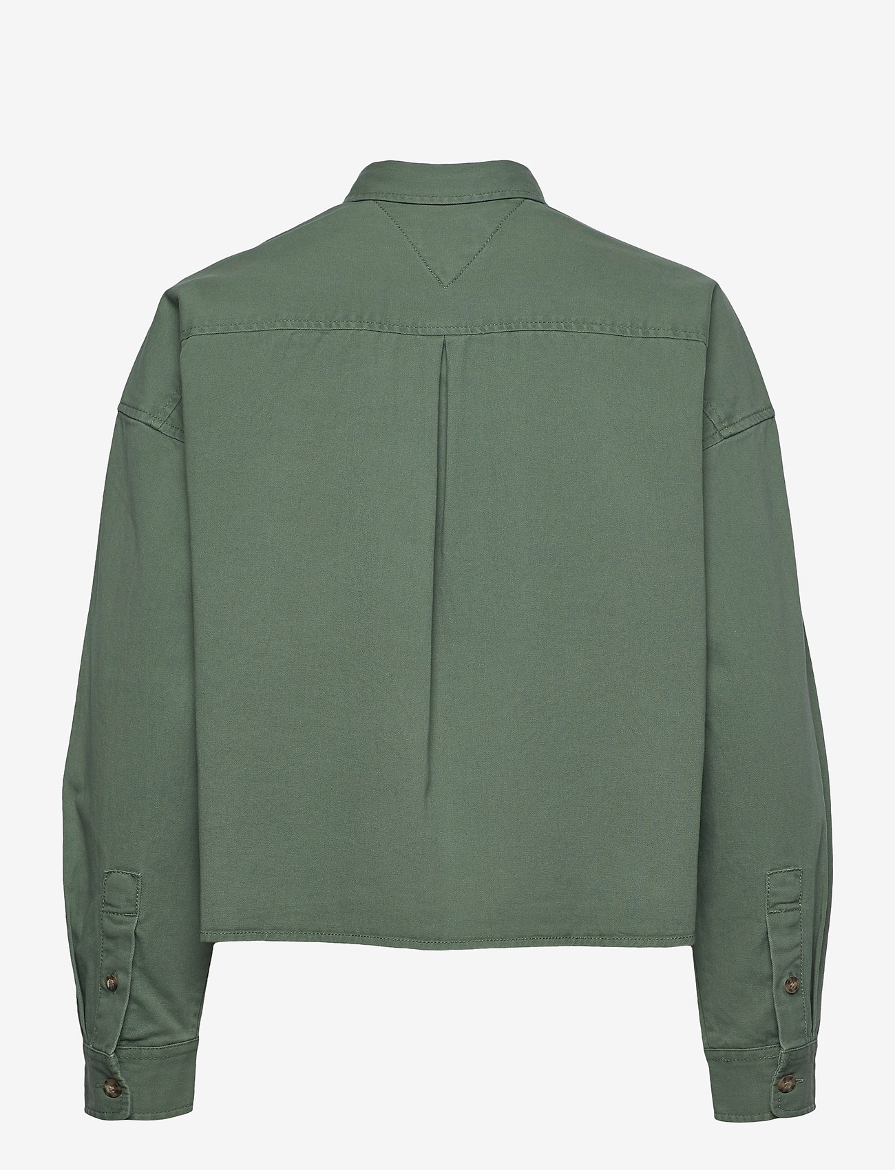Tommy Jeans - TJW CROPPED UTILITY SHIRT - kleding - desert olive - 1