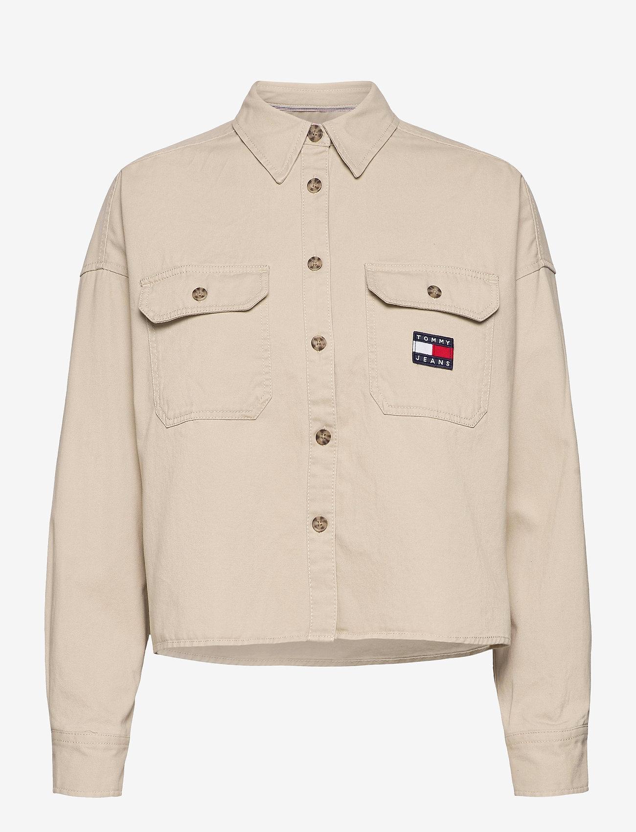 Tommy Jeans - TJW CROPPED UTILITY SHIRT - kläder - sugarcane - 0