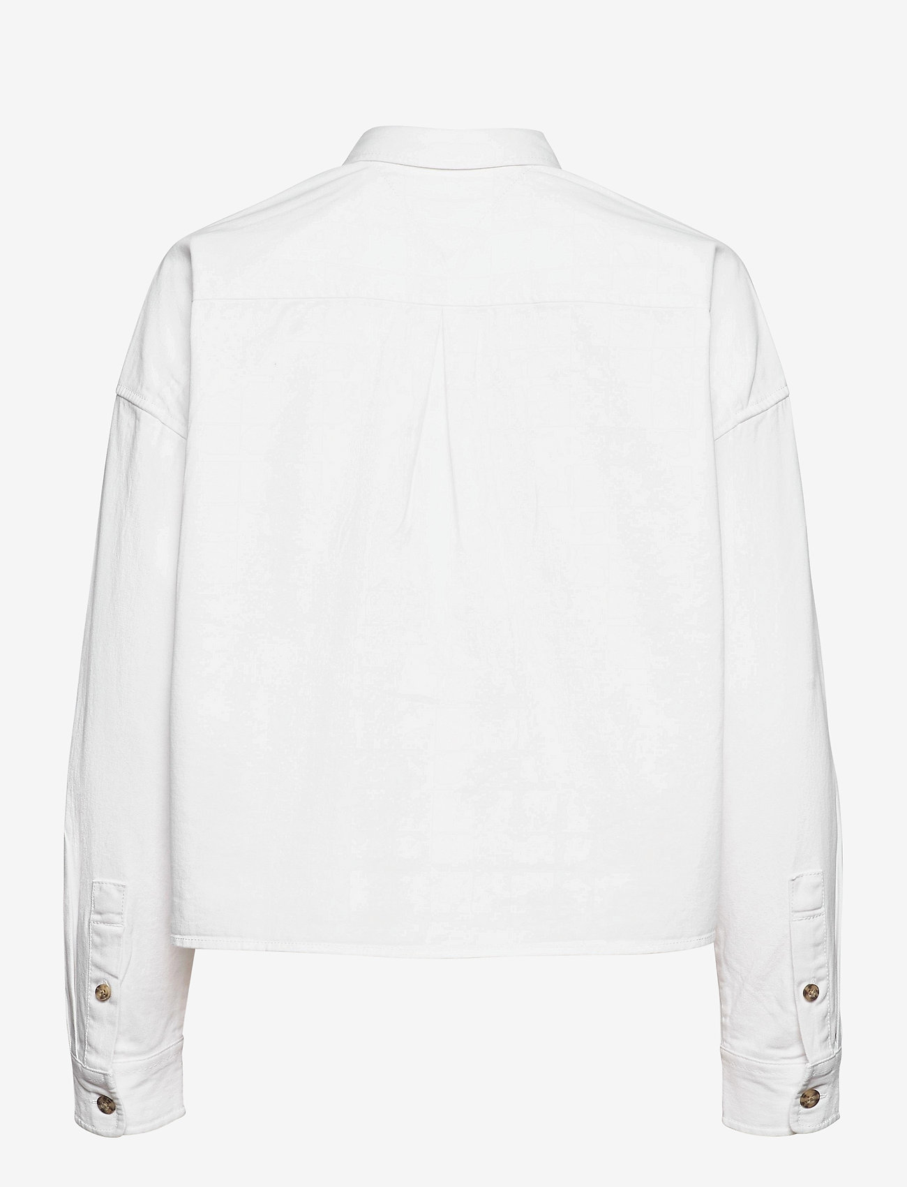 Tommy Jeans - TJW CROPPED UTILITY SHIRT - kläder - white - 1