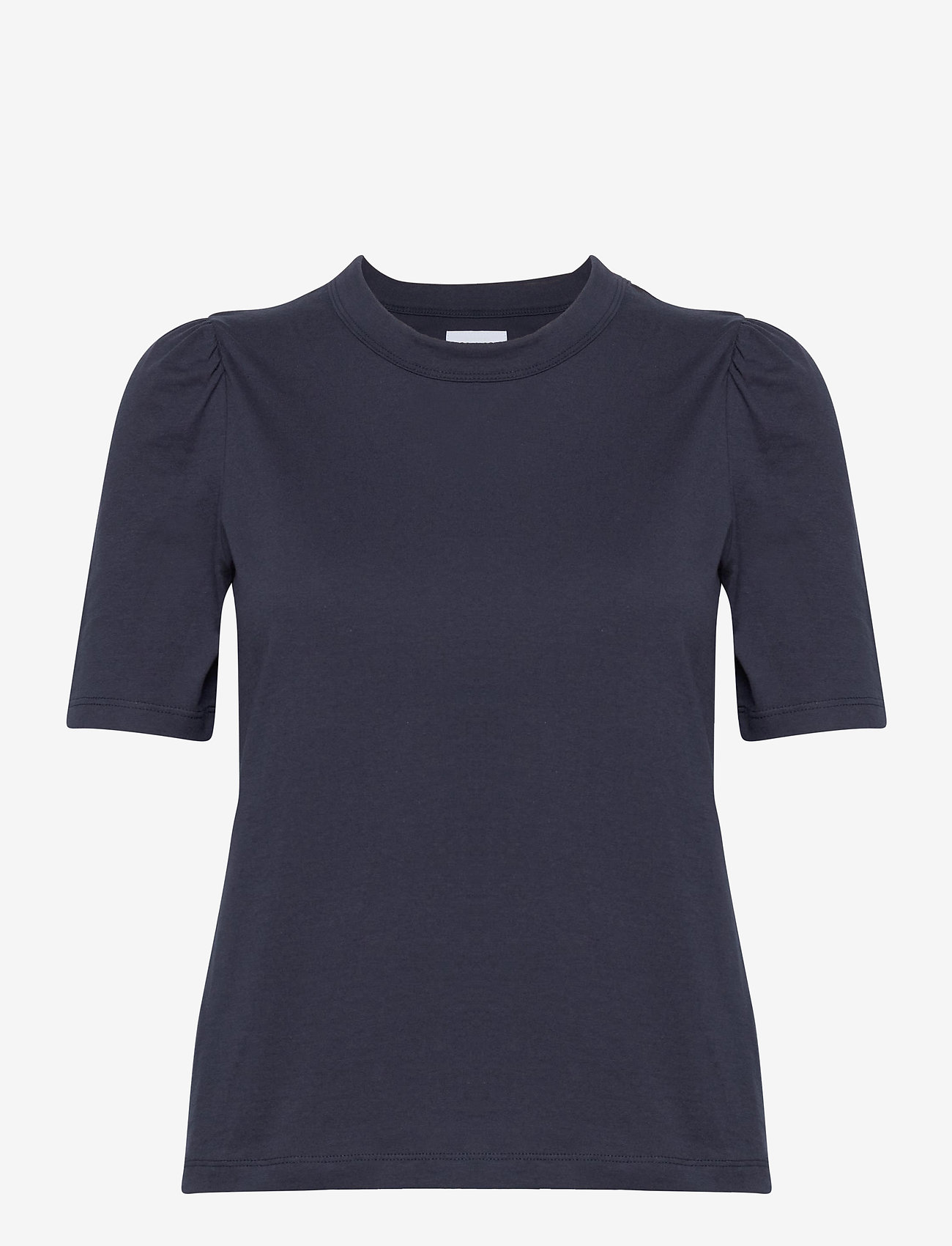 Tommy Jeans - TJW SLIM RUFFLED TEE - t-shirts - twilight navy - 0