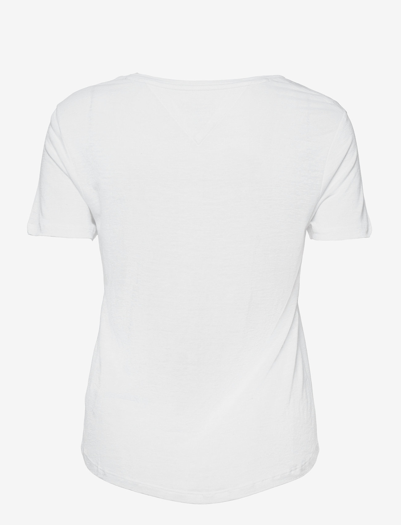 Tommy Jeans - TJW REGULAR SCOOP NECK TEE - t-shirts - white - 1
