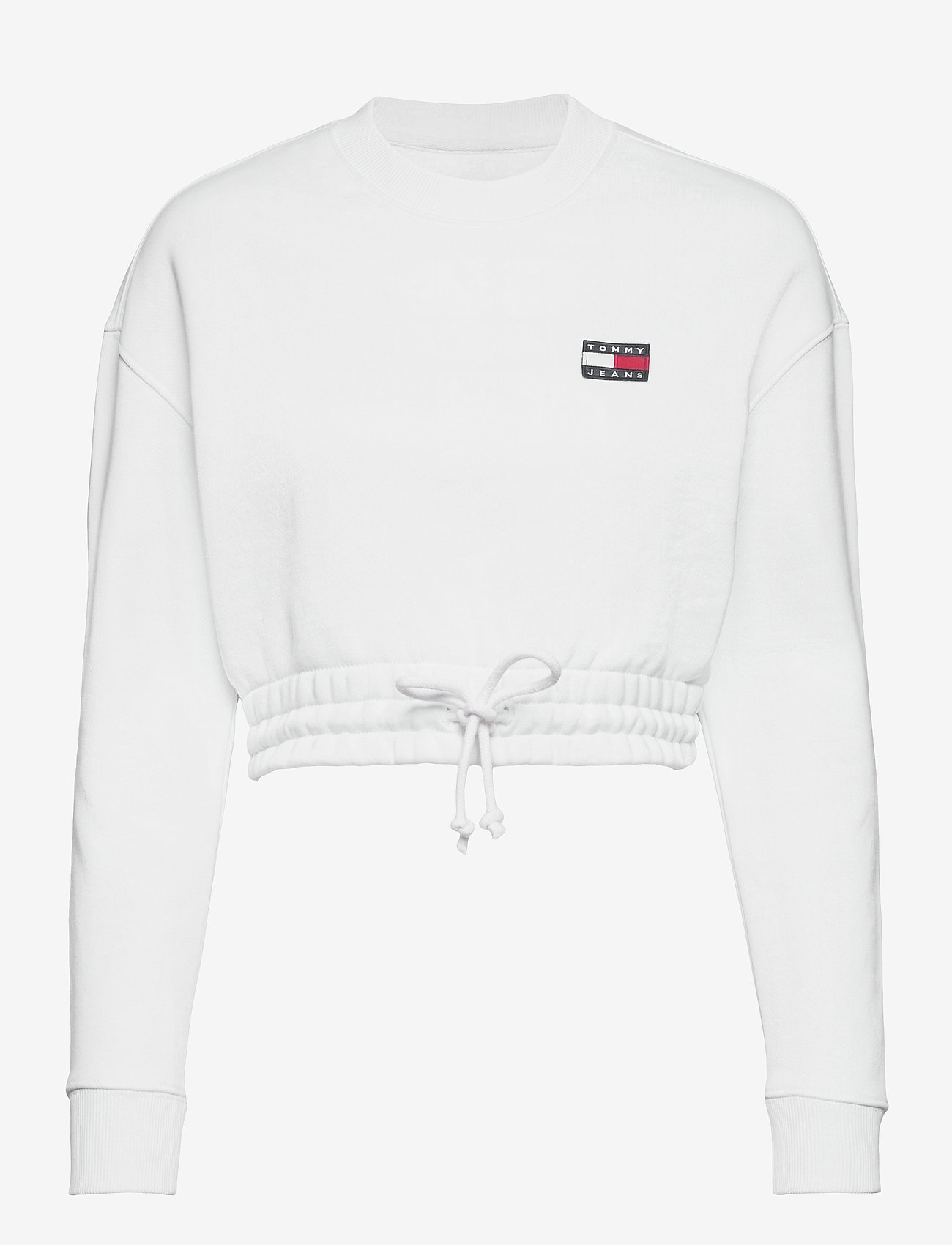 Tommy Jeans - TJW SUPER CROPPED BADGE CREW - crop tops - white - 0