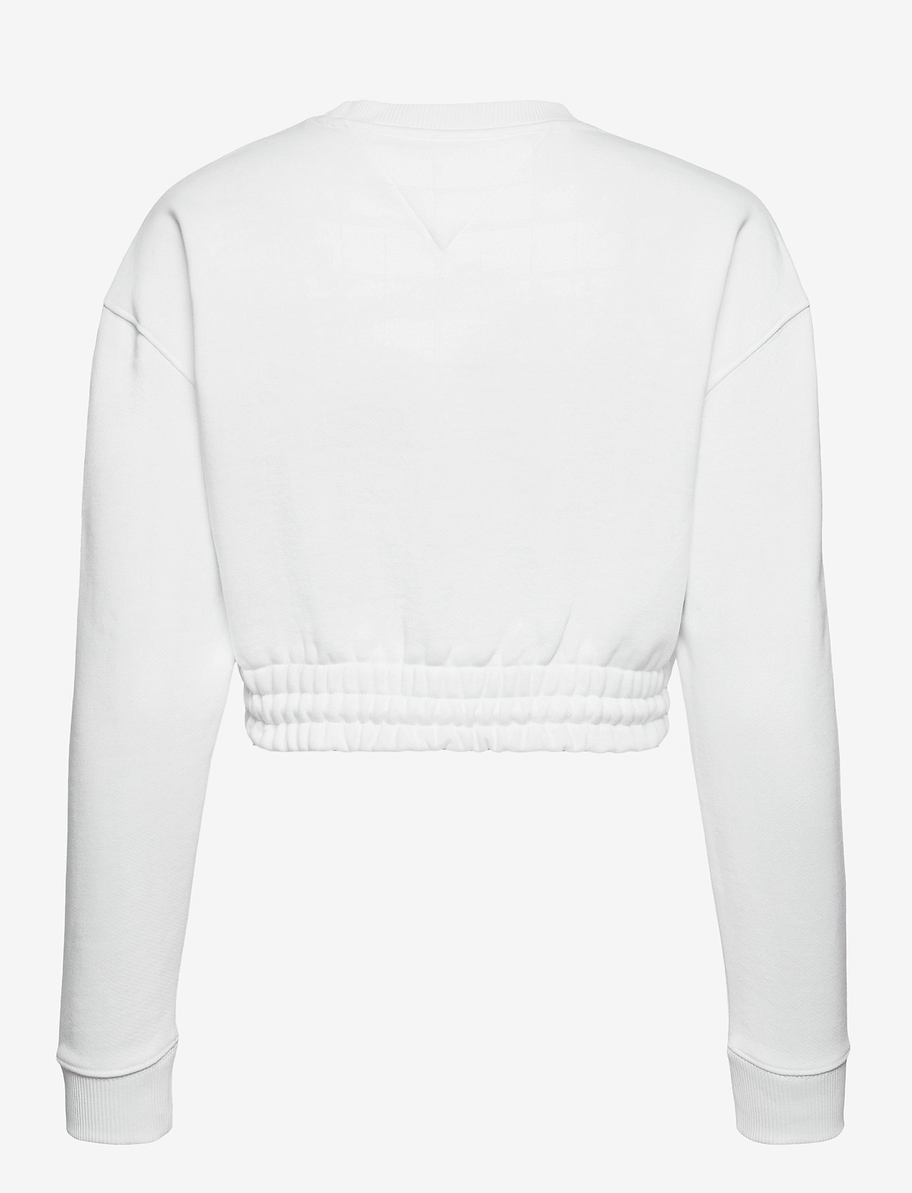Tommy Jeans - TJW SUPER CROPPED BADGE CREW - crop tops - white - 1