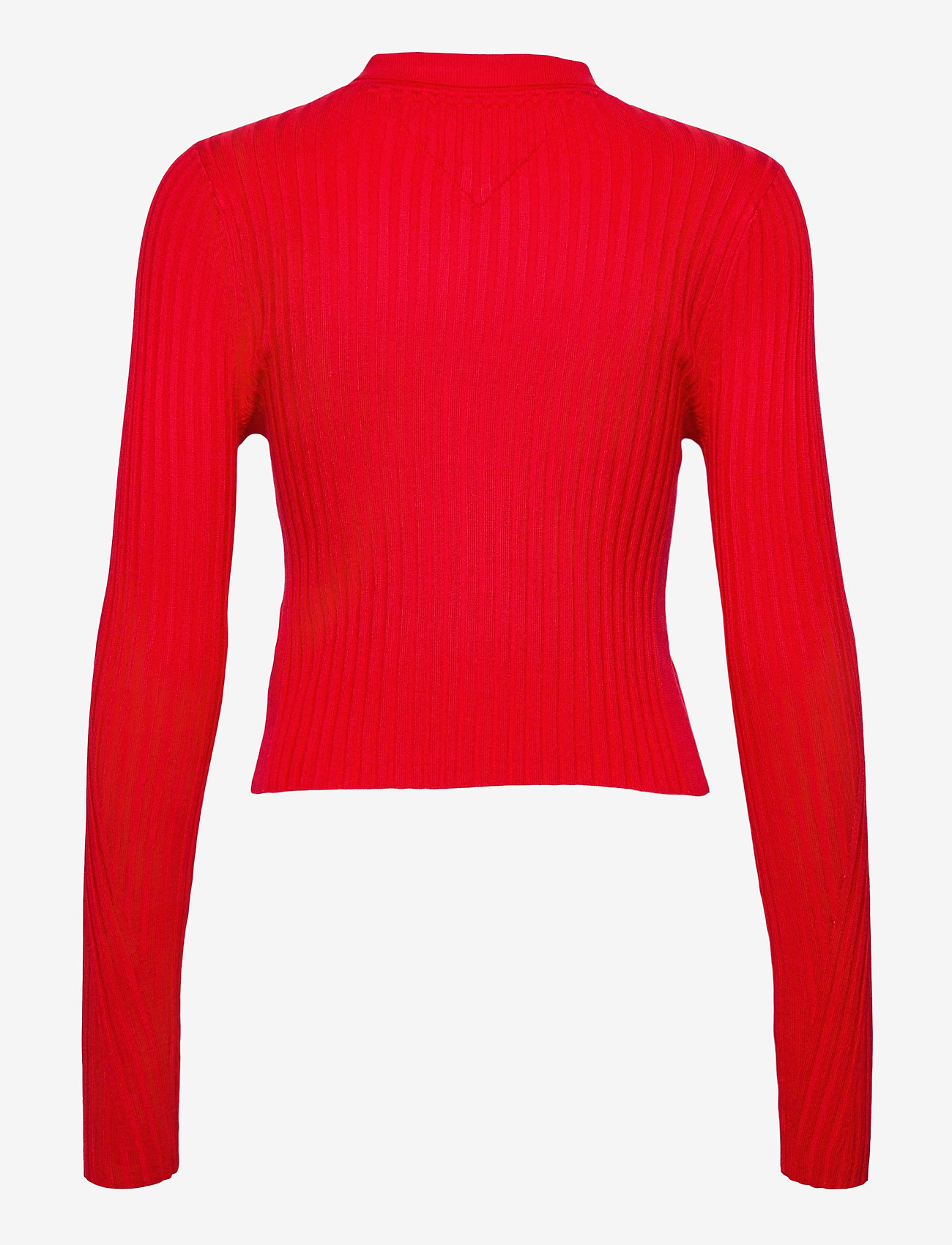 Tommy Jeans - TJW ZIP THROUGH SWEATER - crop tops - deep crimson - 1
