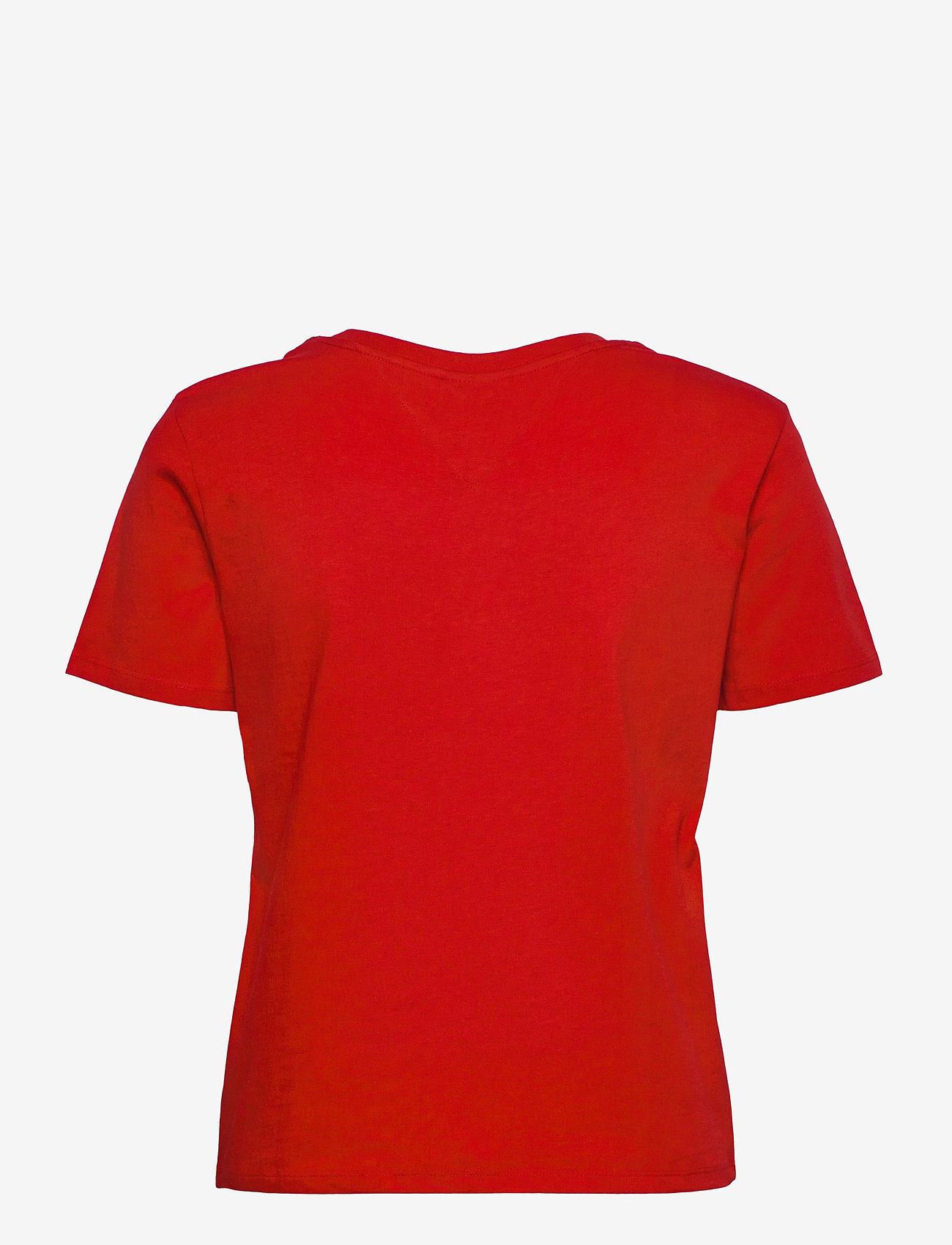 Tommy Jeans - TJW REGULAR TIMELESS BOX TEE - t-shirts - deep crimson - 1