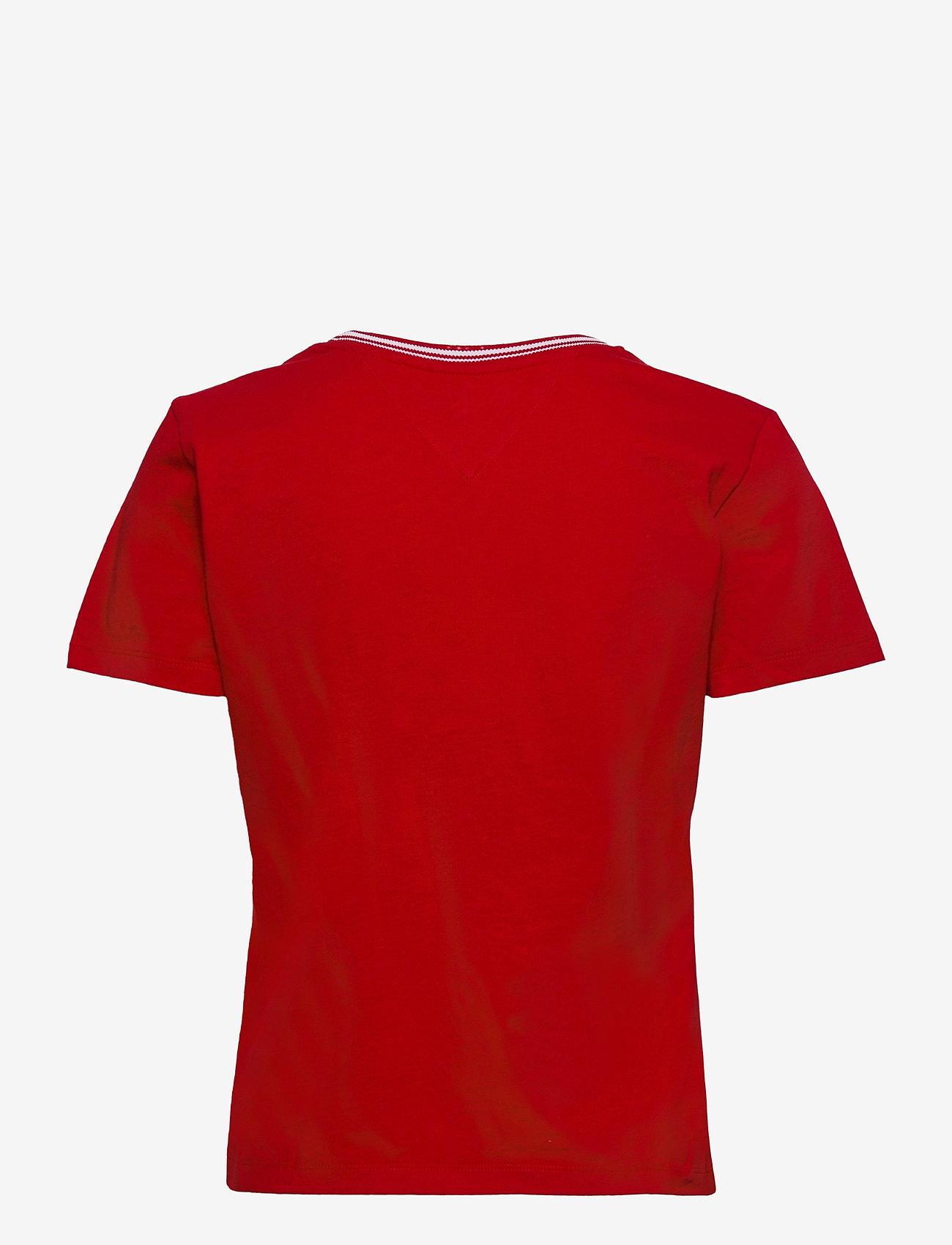 Tommy Jeans - TJW REGULAR TIMELESS SCRIPT TEE - t-shirts - deep crimson - 1
