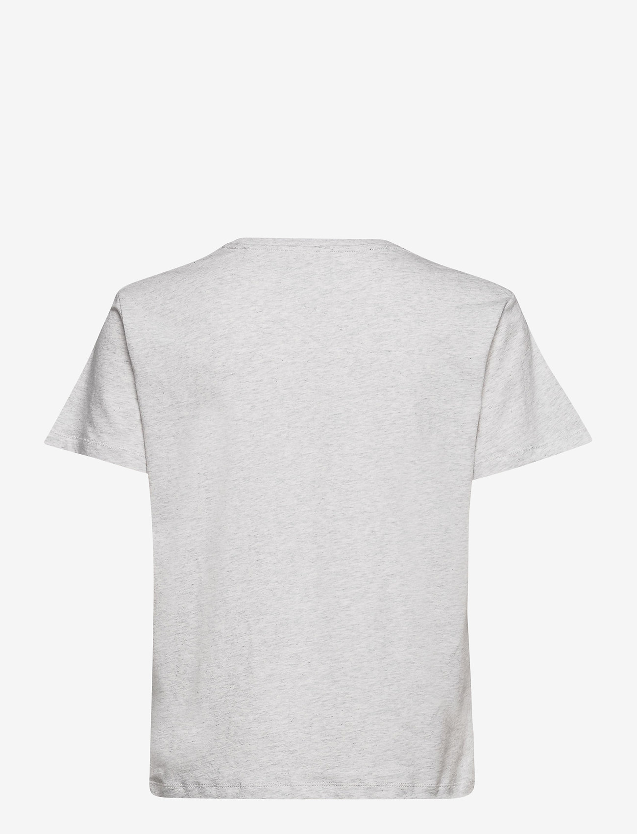 Tommy Jeans - TJW RELAXED COLLEGE LOGO TEE - t-shirts - silver grey htr - 1