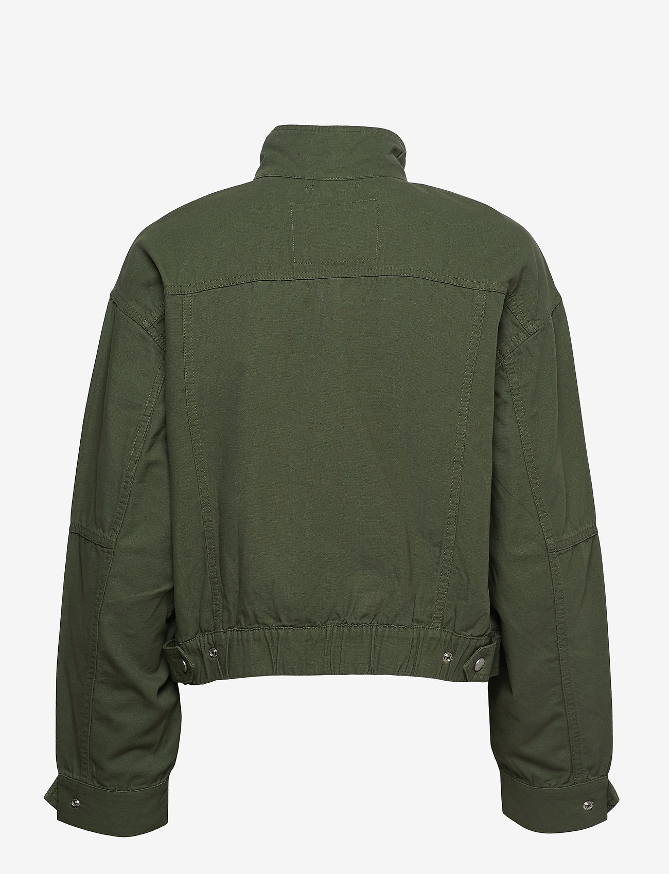 Tommy Jeans - TJW CROP UTILITY JACKET - utility jackets - desert olive - 1