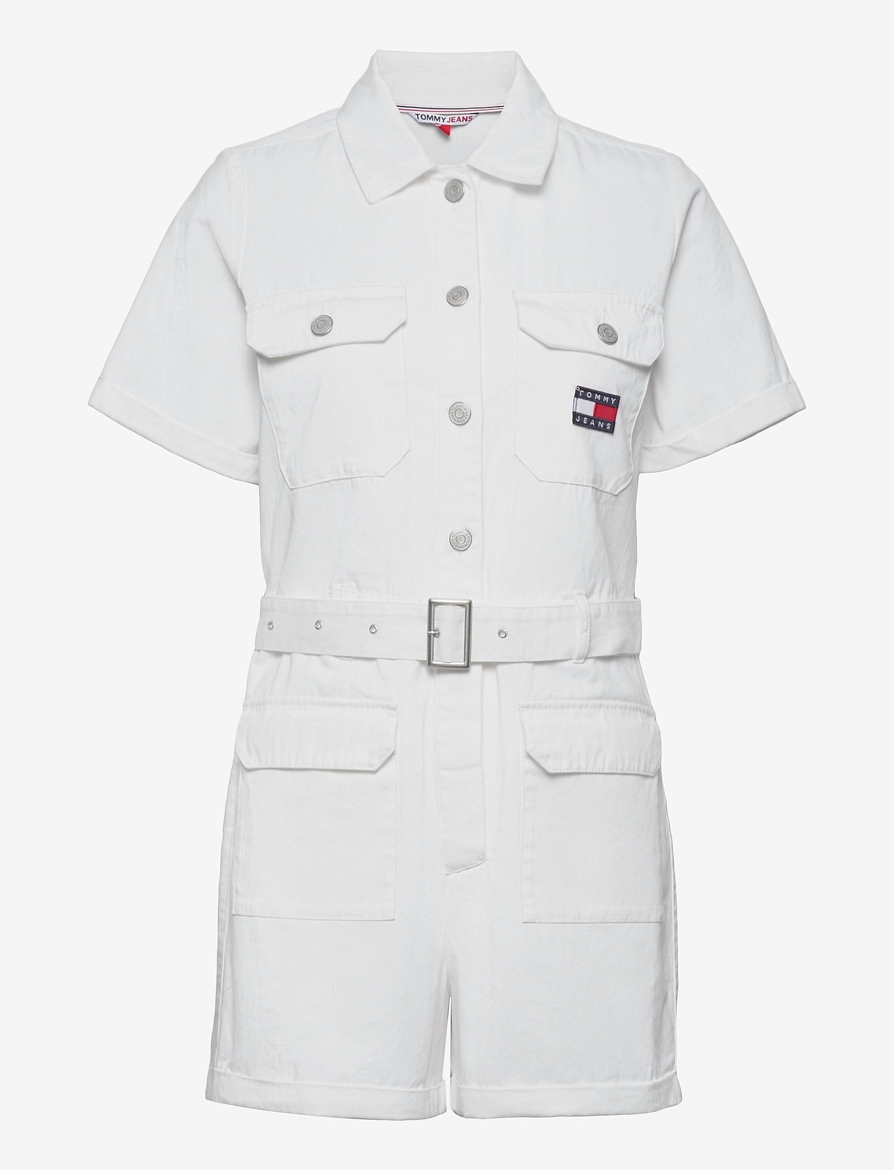 Tommy Jeans - TJW SHORT BOILERSUIT - clothing - white - 0
