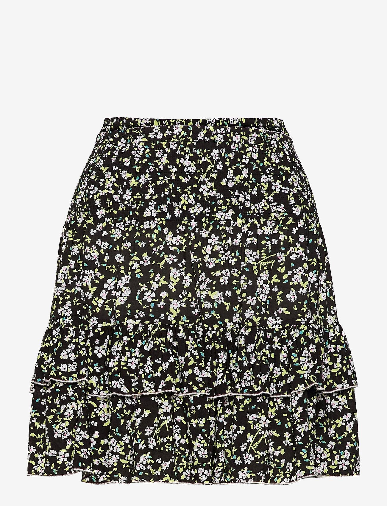 Tommy Jeans - TJW SMOCKED WAIST FLORAL SKIRT - sportkjolar - floral print - 0