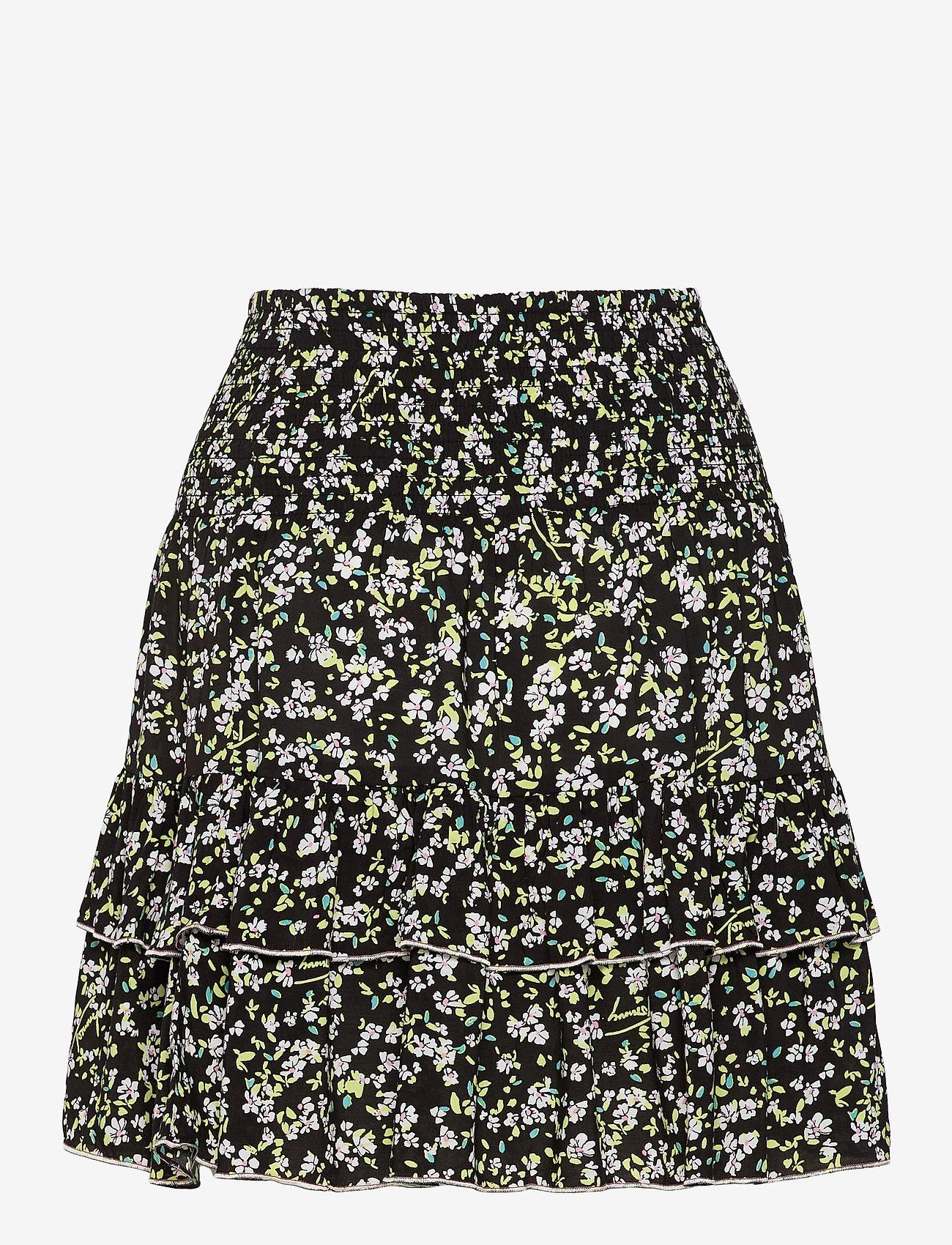 Tommy Jeans - TJW SMOCKED WAIST FLORAL SKIRT - sportkjolar - floral print - 1