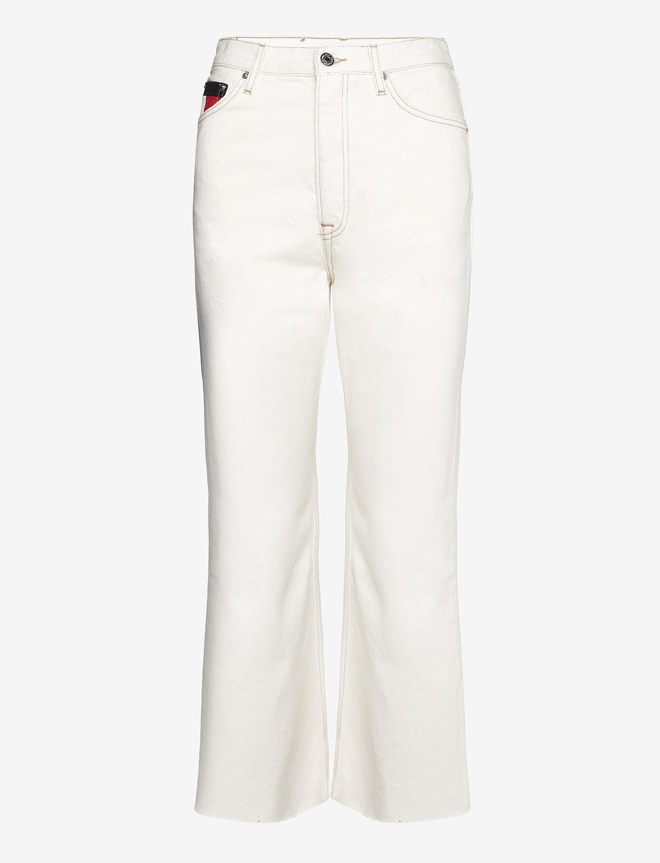 Tommy Jeans - HARPER HR FLARE ANKLE BF SSPWR - schlaghosen - save sp white rgd - 0