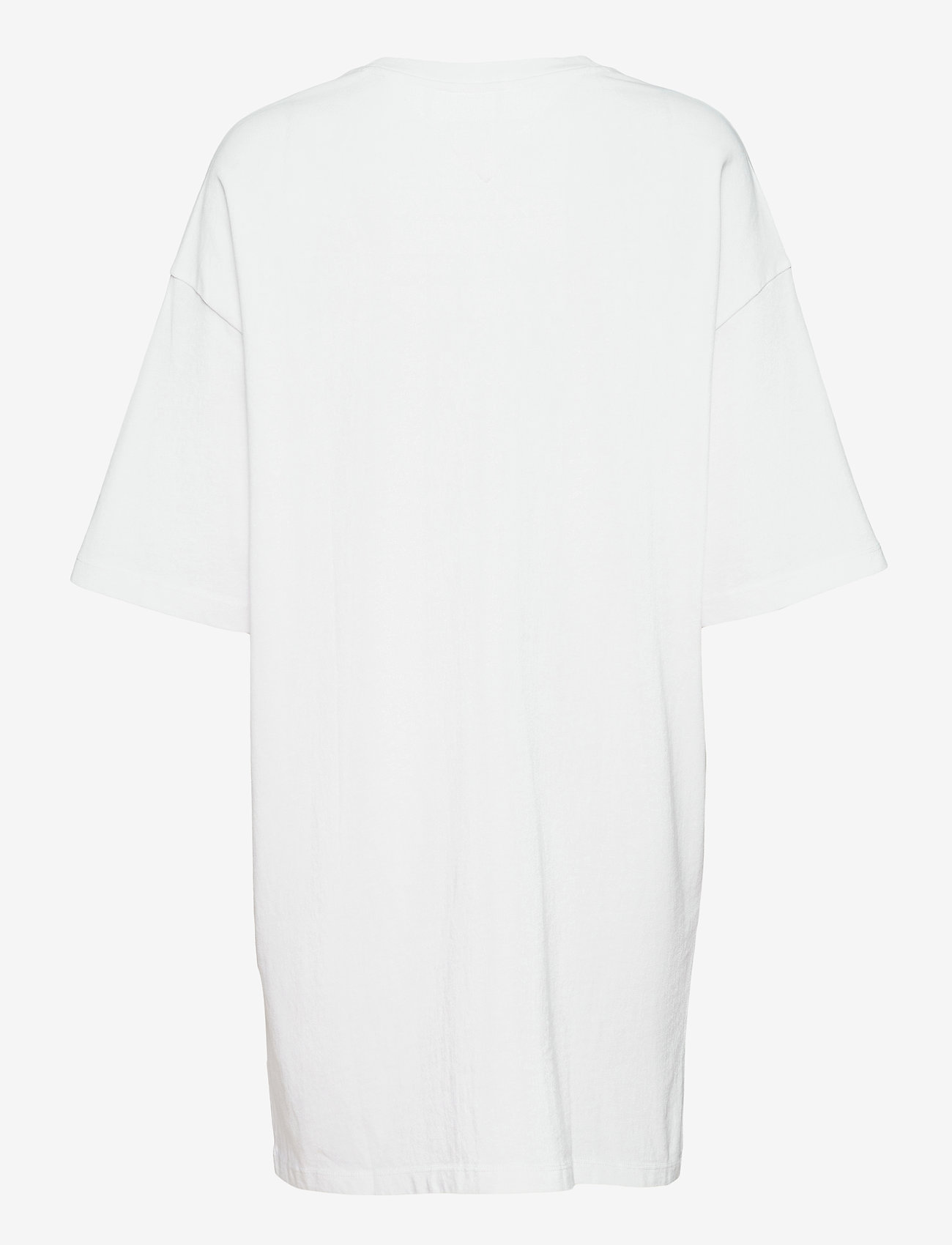 Tommy Jeans - TJW OVERSIZED BADGE TEE DRESS - t-shirts - white - 1
