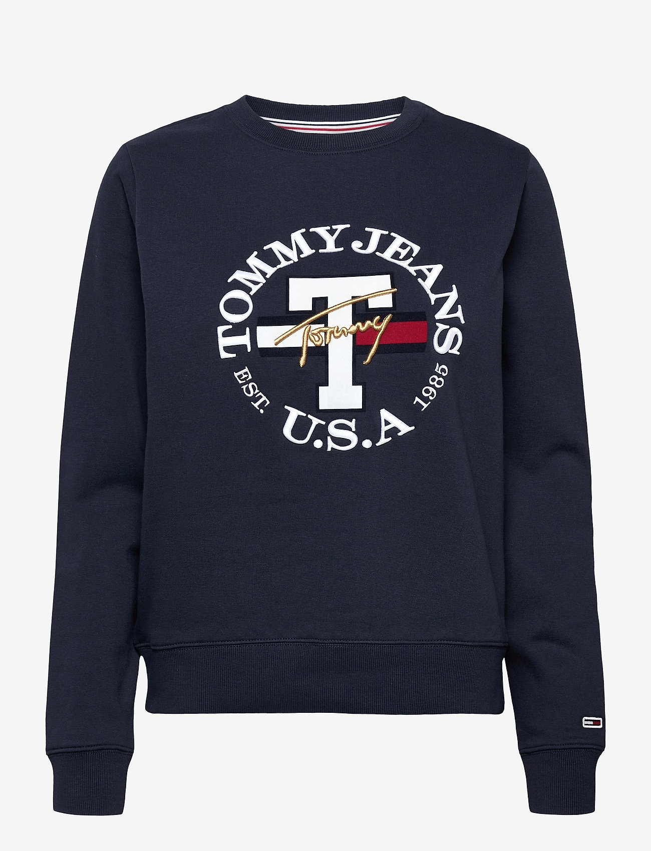 Tommy Jeans - TJW REGULAR TWISTED LOGO CREW - sweatshirts & hoodies - twilight navy - 0