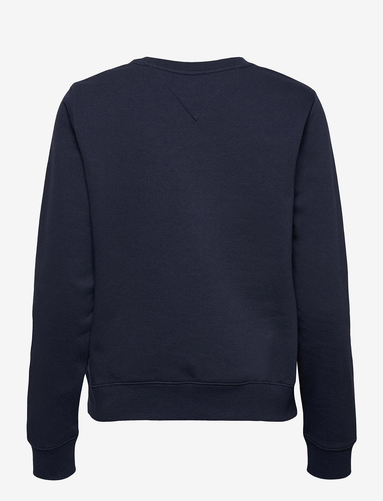 Tommy Jeans - TJW REGULAR TWISTED LOGO CREW - sweatshirts & hoodies - twilight navy - 1