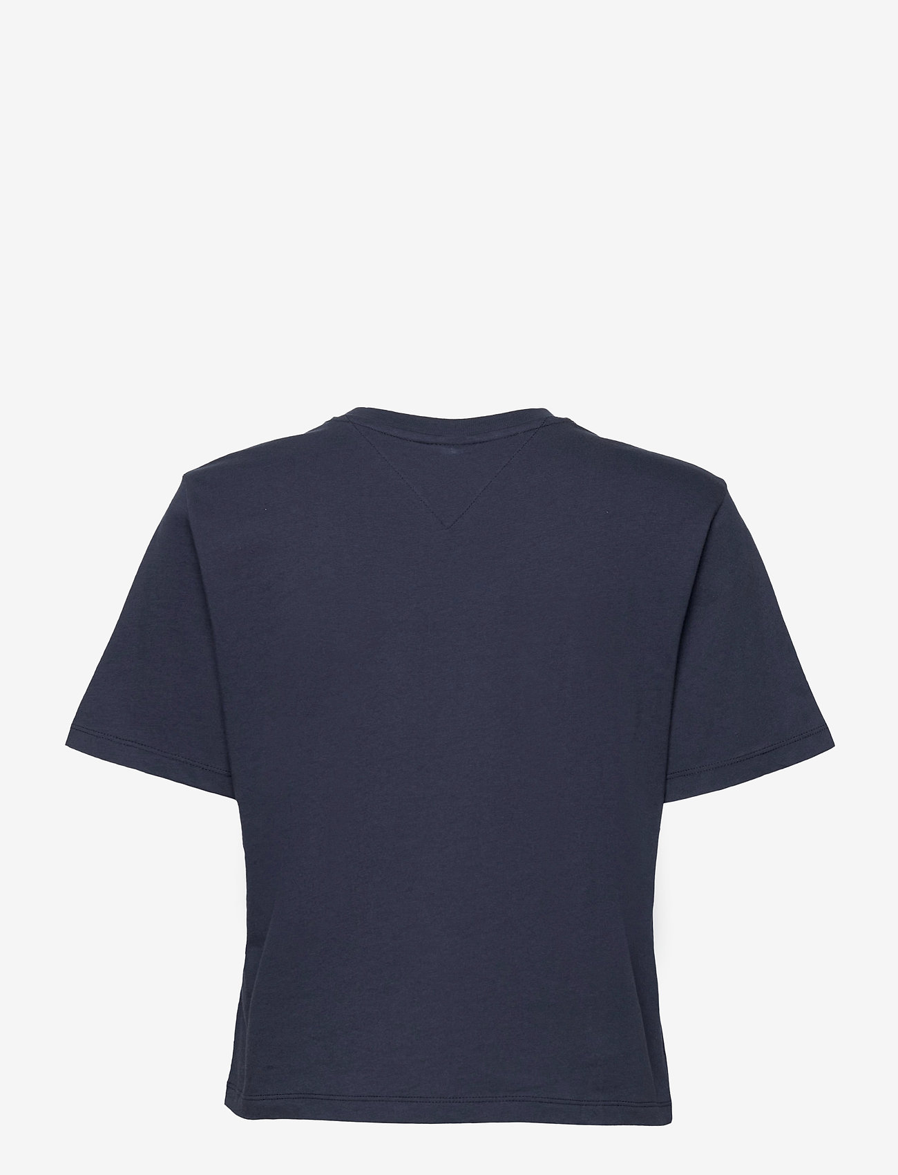 Tommy Jeans - TJW BXY CROP LINEAR LOGO TEE - crop tops - twilight navy - 1