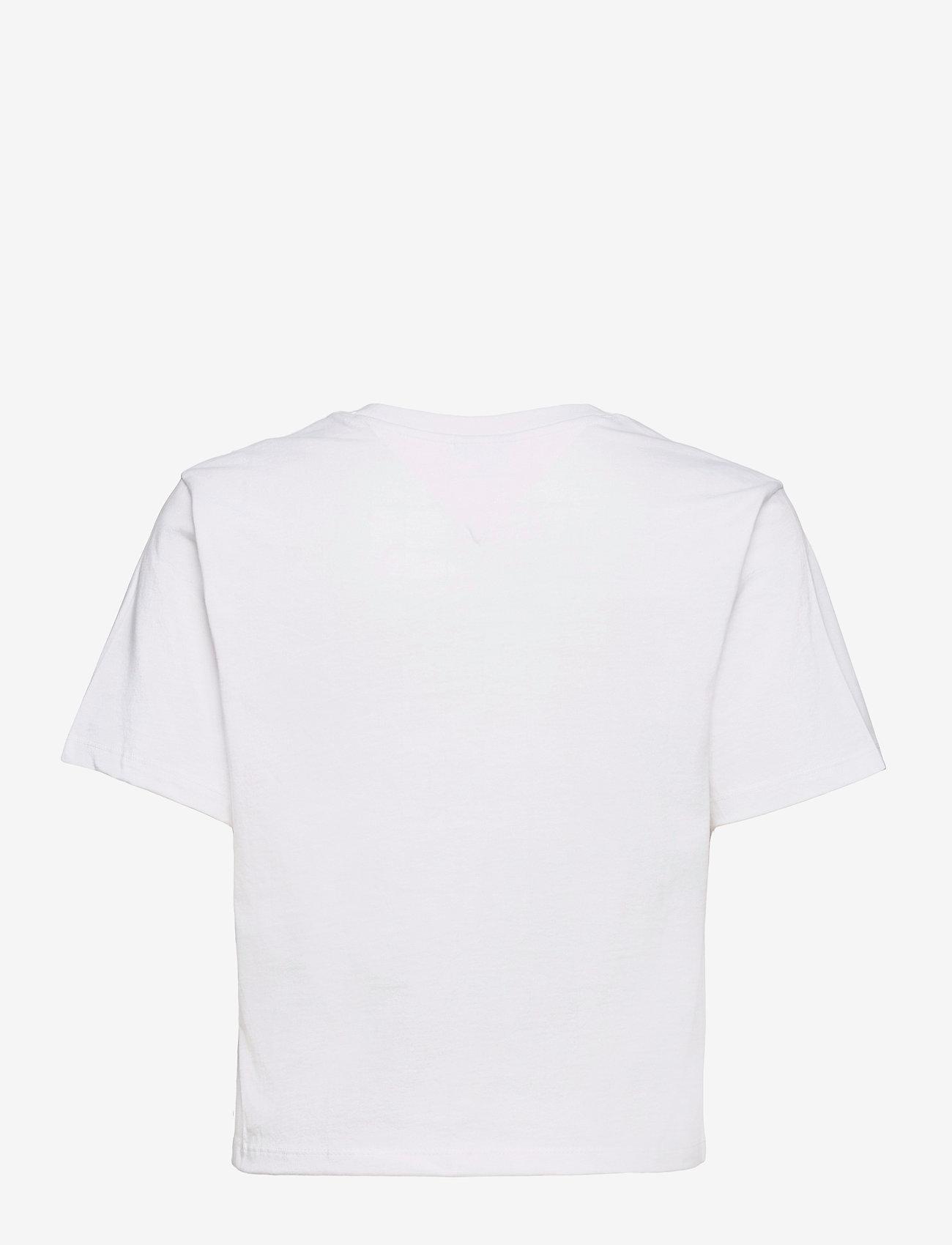 Tommy Jeans - TJW BXY CROP LINEAR LOGO TEE - crop tops - white - 1