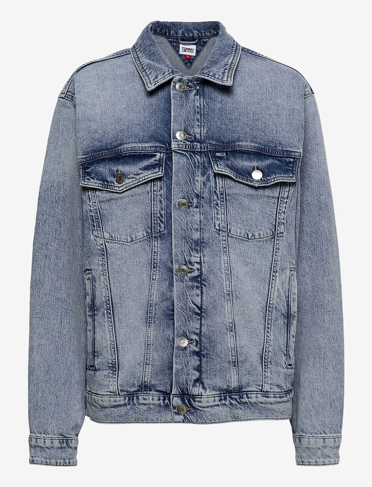 Tommy Jeans - OVERSIZE TRUCKER JACKET ALBC - denimjakker - ames lb com - 0