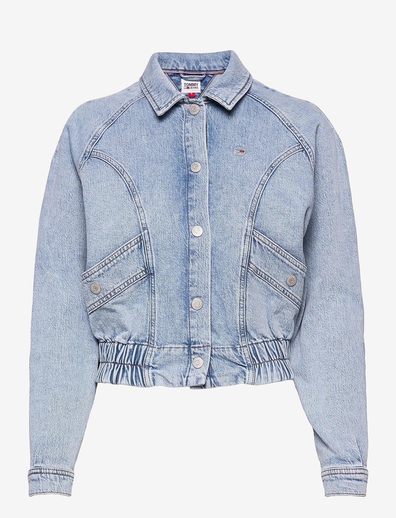 Tommy Jeans - CARGO CROP JACKET TJLLBC - jeansjackor - leon lb com - 0