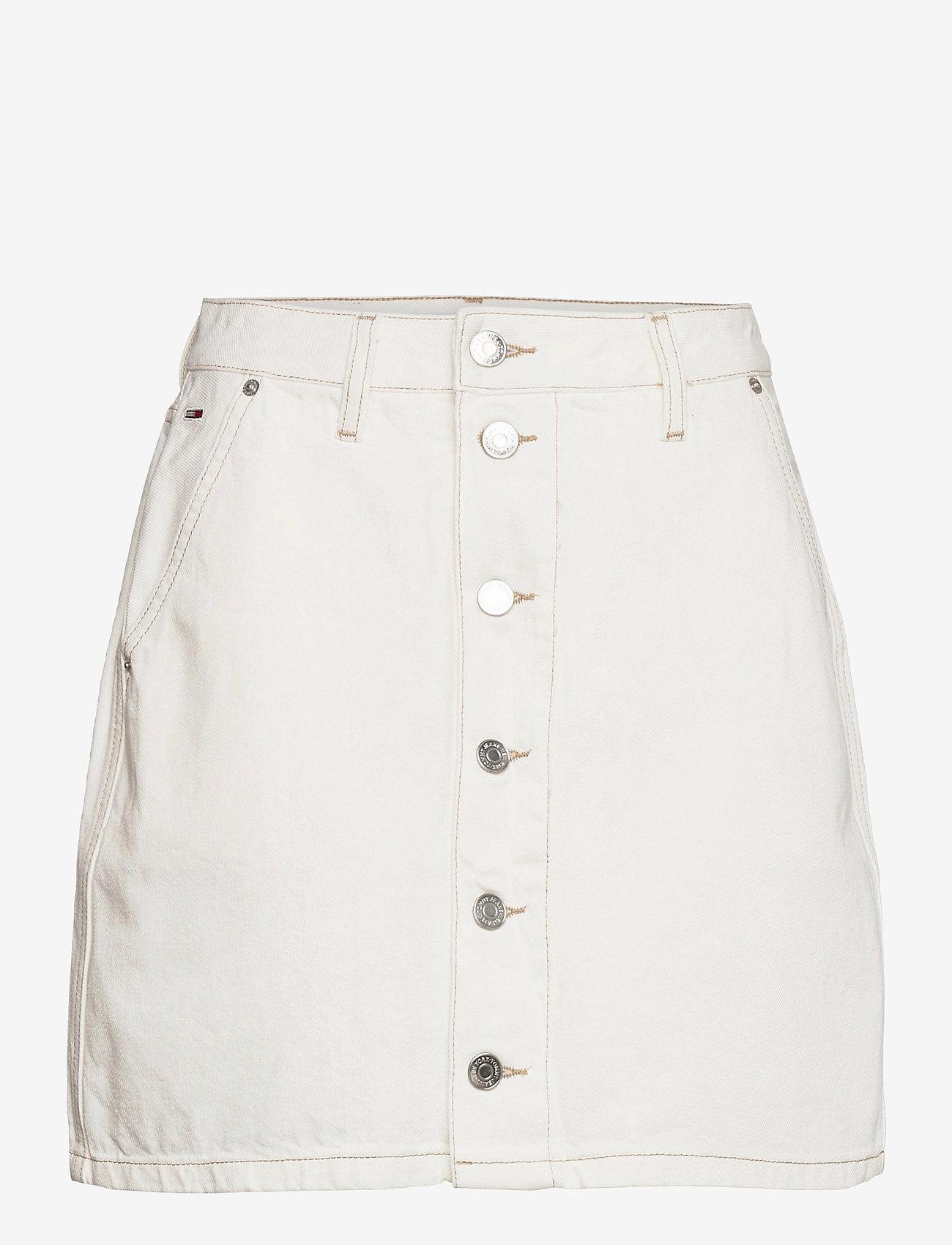 Tommy Jeans - A-LINE SHORT DENIM SKIRT SSPWR - jeanskjolar - save sp white rgd - 0