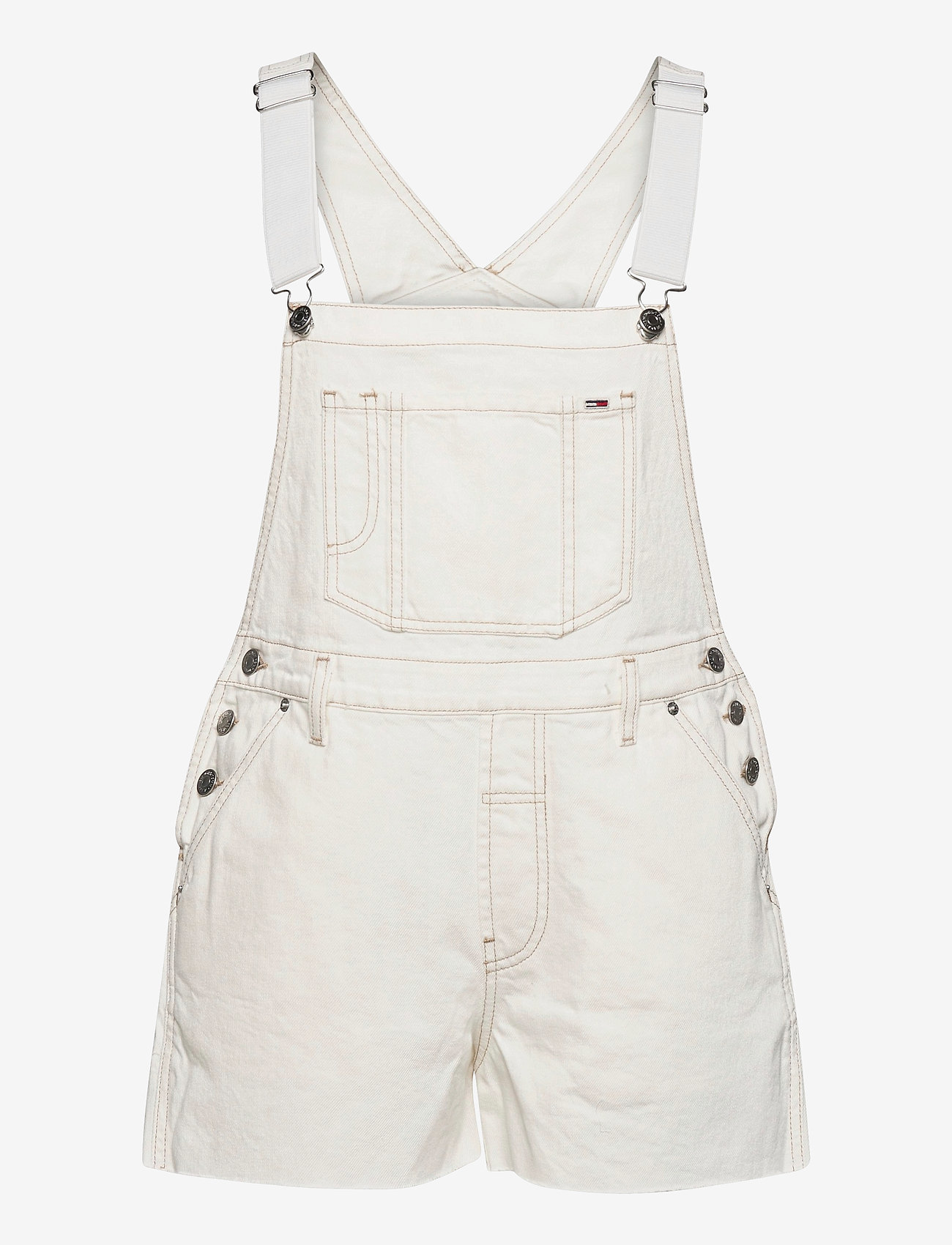 Tommy Jeans - OVERSIZE DUNGAREE SHORT SSPWR - kläder - save sp white rgd - 0