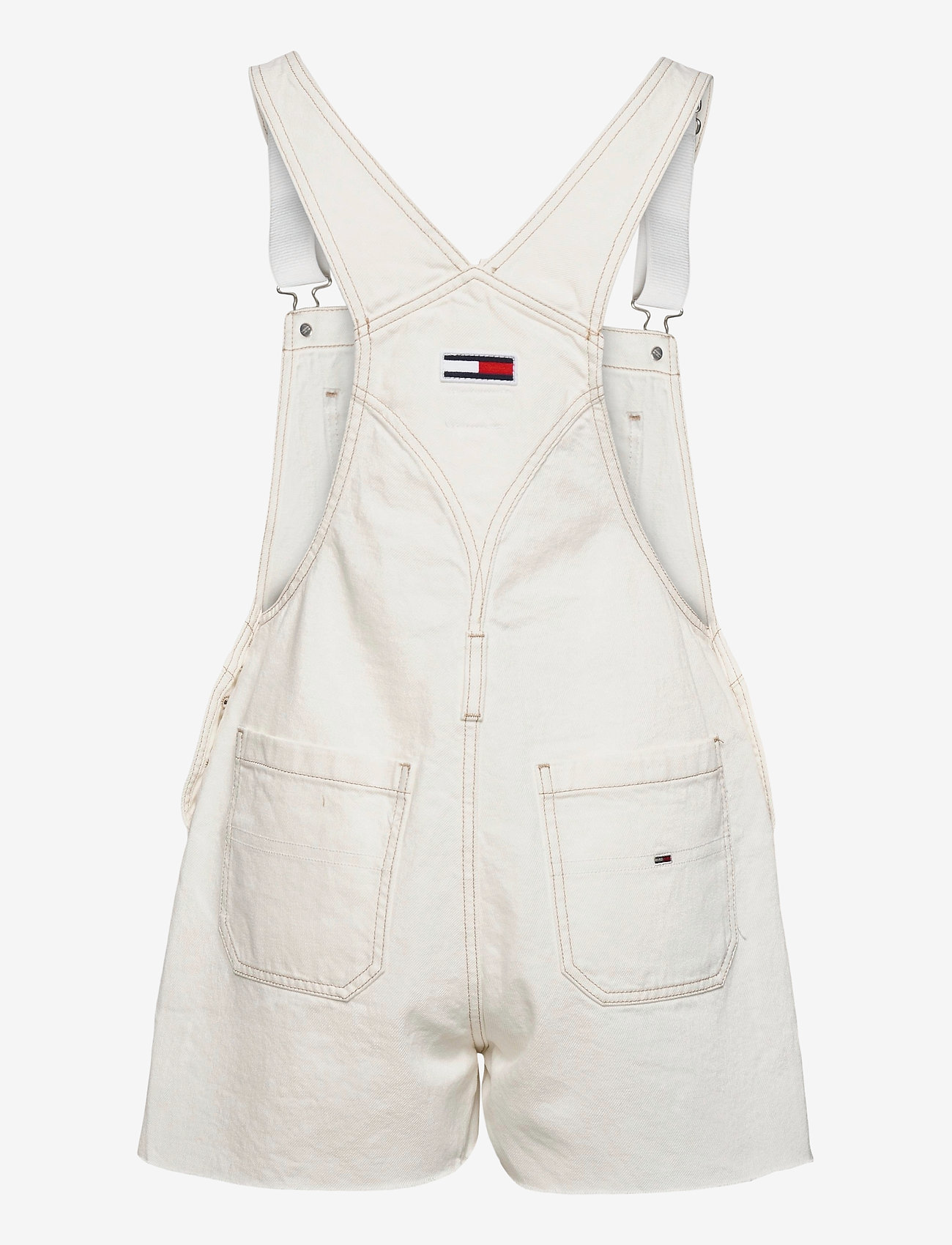 Tommy Jeans - OVERSIZE DUNGAREE SHORT SSPWR - kläder - save sp white rgd - 1