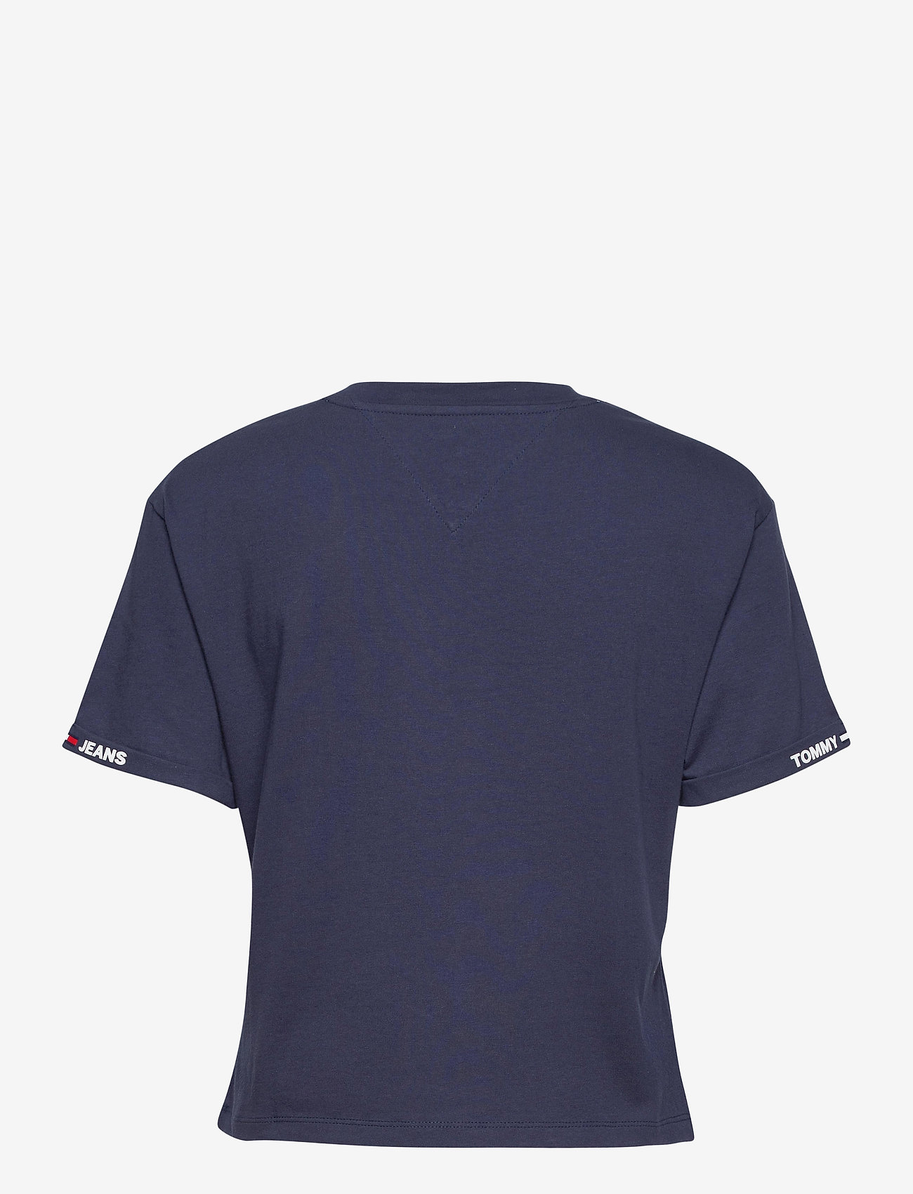 Tommy Jeans - TJW CROP BRANDED TEE - crop tops - twilight navy - 1
