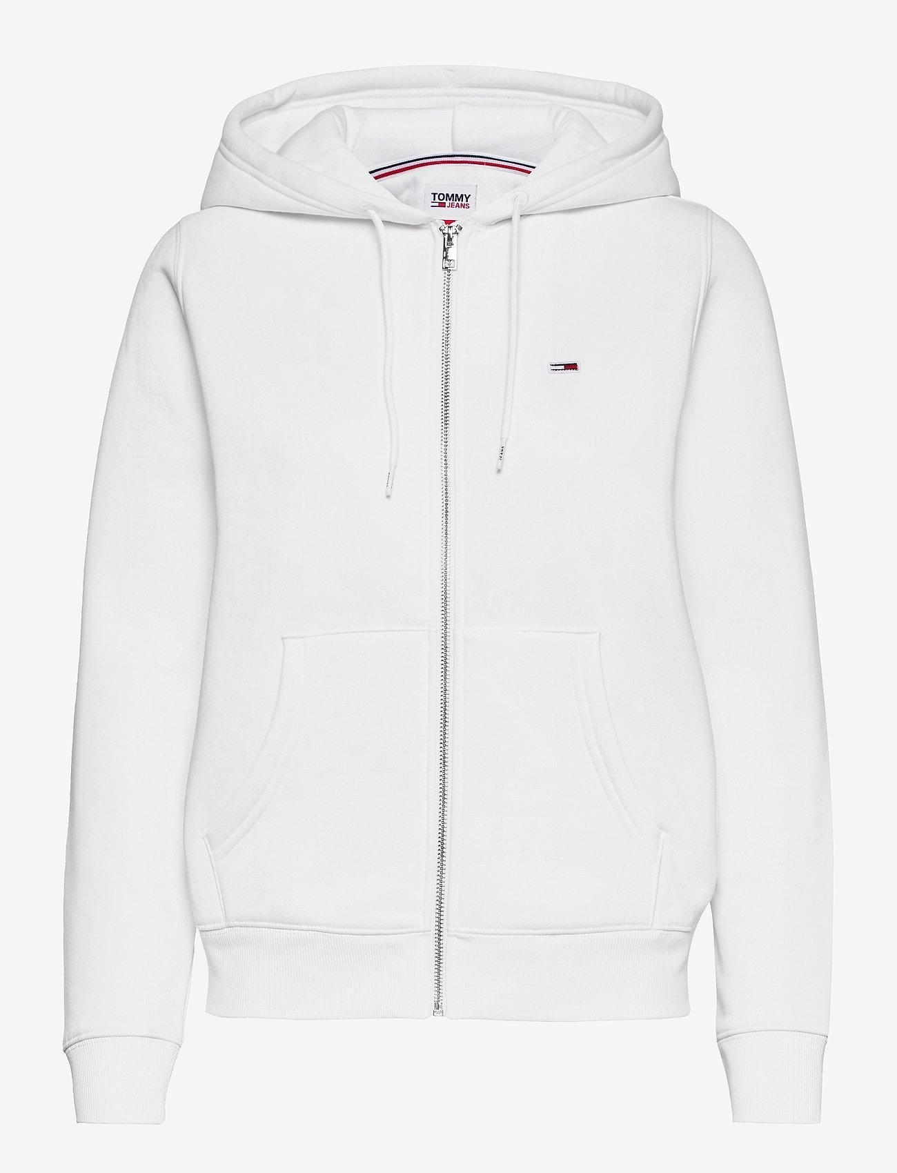 Tommy Jeans - TJW REGULAR HOODIE ZIP THROUGH - sweatshirts & hoodies - white - 0
