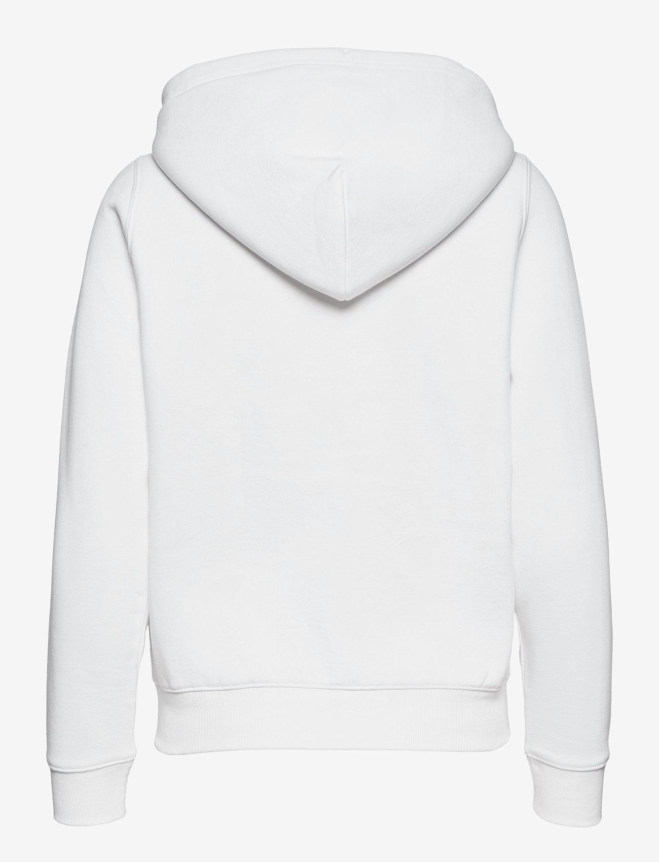 Tommy Jeans - TJW REGULAR HOODIE ZIP THROUGH - sweatshirts & hoodies - white - 1