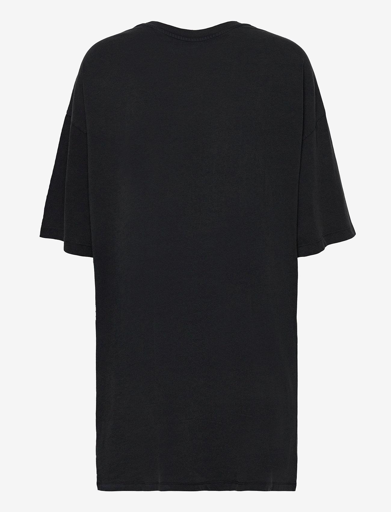 Tommy Jeans - TJW VINTAGE GRAPHIC TEE DRESS - sommarklänningar - black - 1