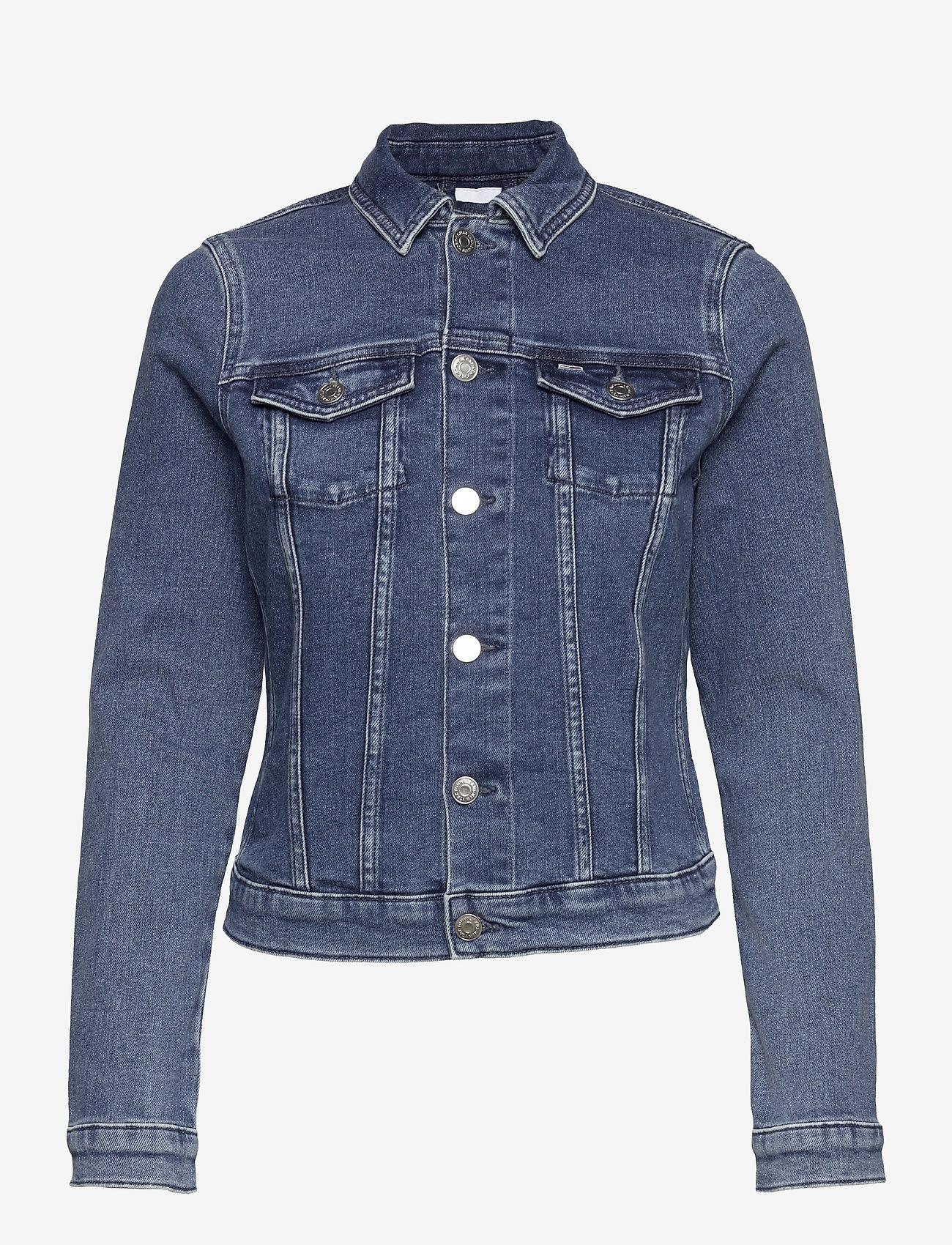 Tommy Jeans - VIVIANNE SLIM DENIM TRUCKER NMBS - jeansjackor - nancy mb str - 0