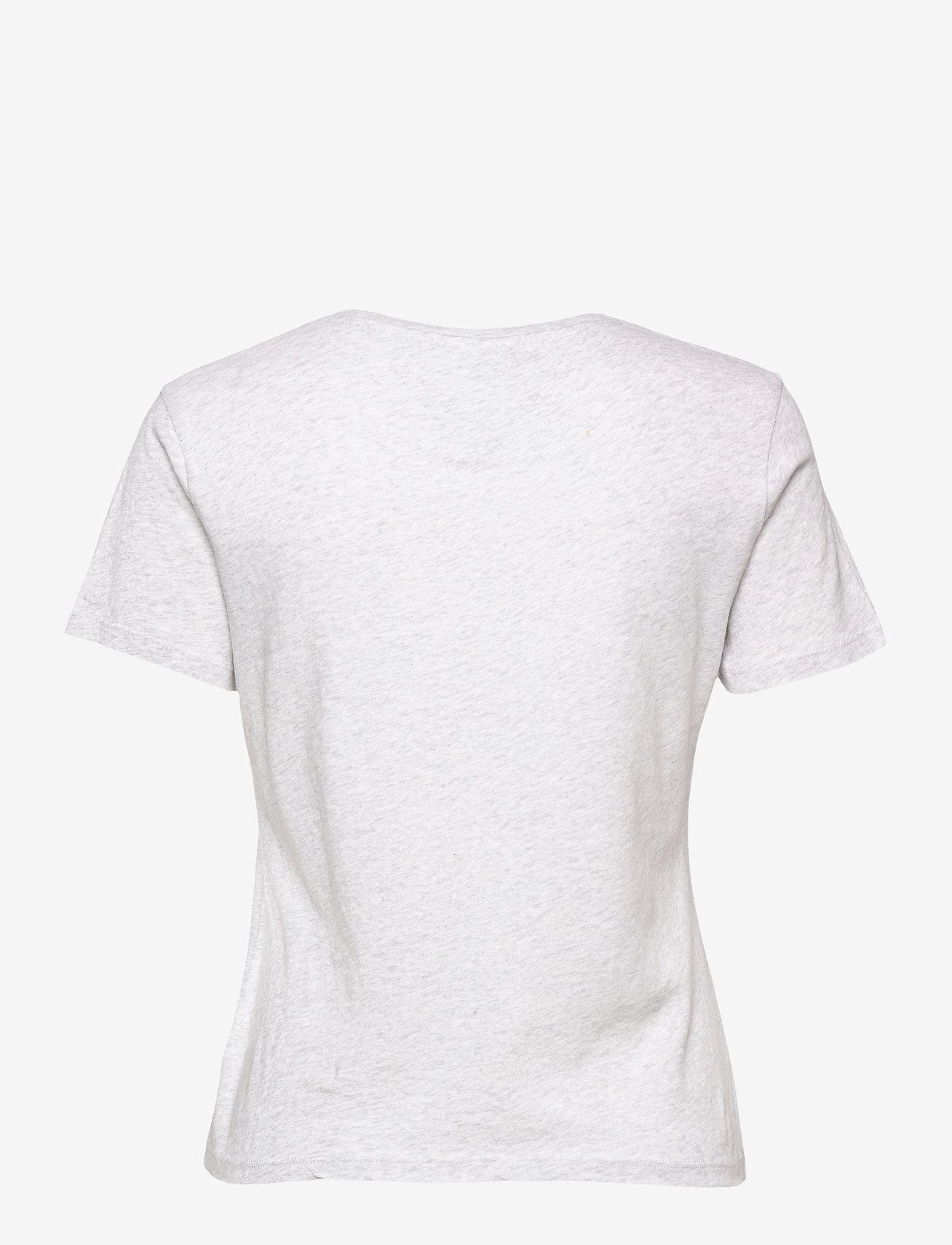 Tommy Jeans - TJW  SLIM METALLIC TOMMY TEE - t-shirts - silver grey htr - 1