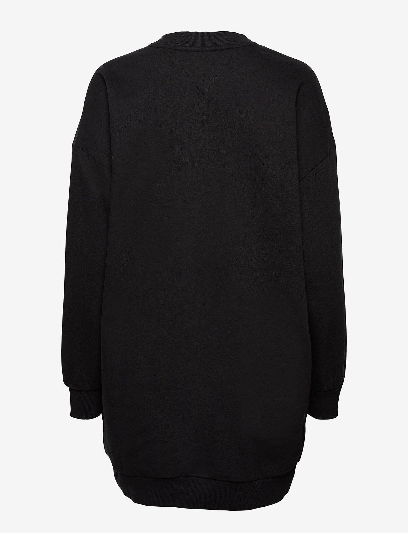 Tommy Jeans - TJW LOGO SWEAT DRESS C - vardagsklänningar - black - 1