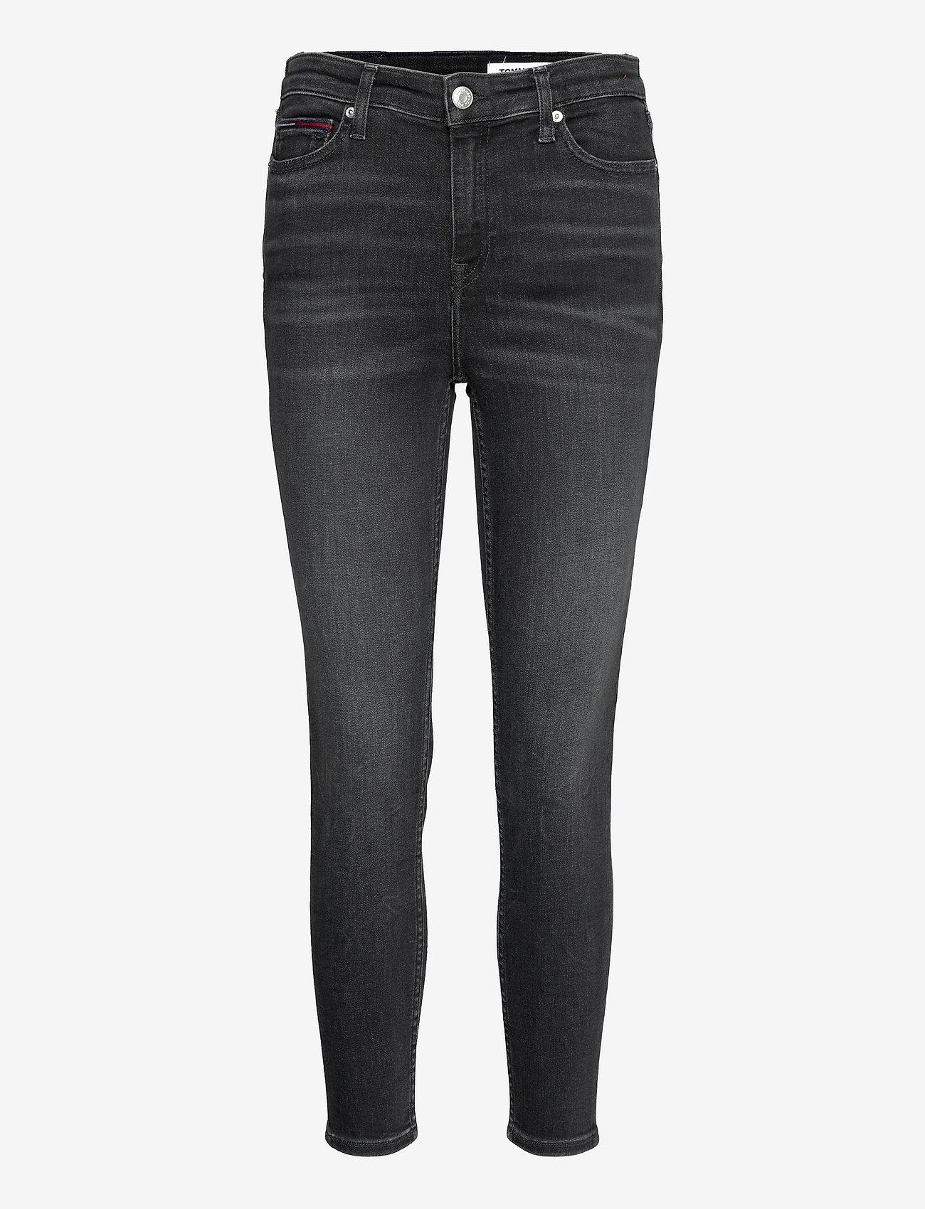 Tommy Jeans - NORA MR SKNY ANKLE AE170 BKS - skinny jeans - denim black - 0