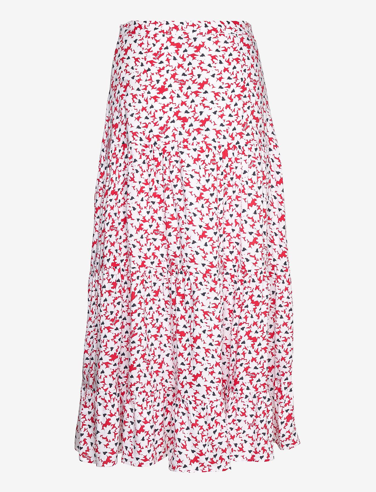 Tommy Jeans - TJW PRINTED TIERED MIDI SKIRT - midi skirts - camo floral print - 1