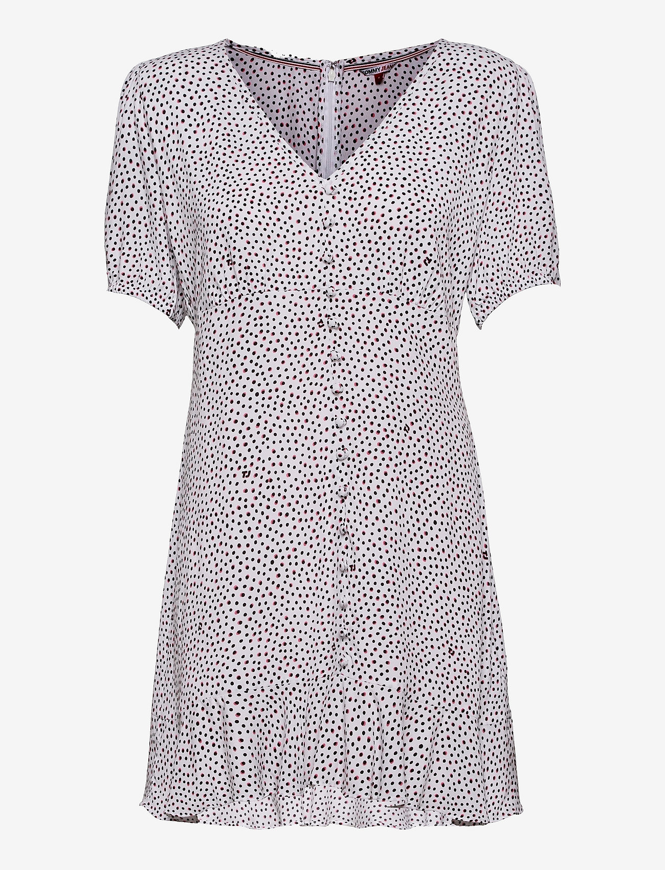 Tommy Jeans - TJW PRINTED BUTTON THRU DRESS - summer dresses - dot print - 0