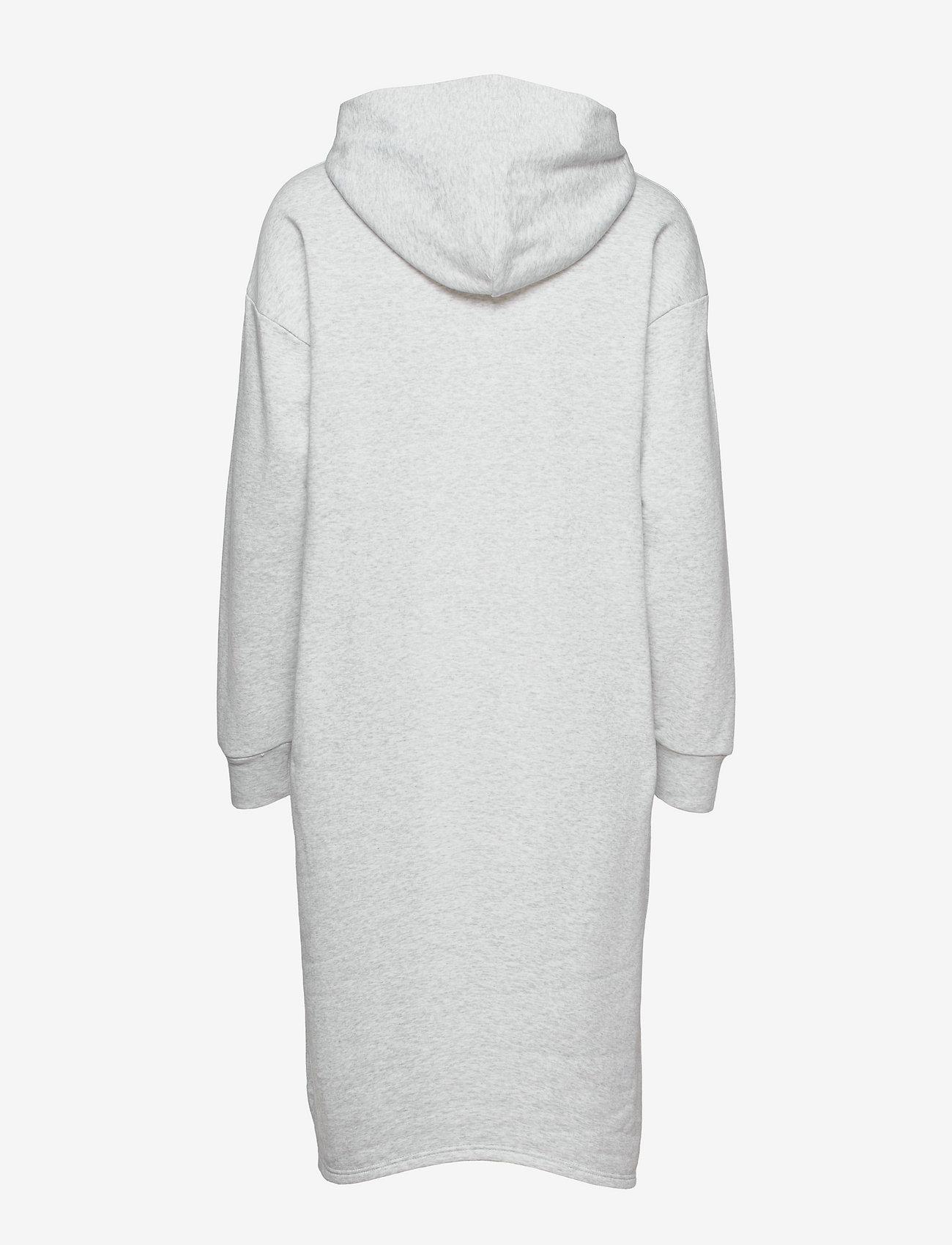 Tommy Jeans - TJW LONGLINE HOODIE BADGE DRESS - summer dresses - silver grey htr - 1