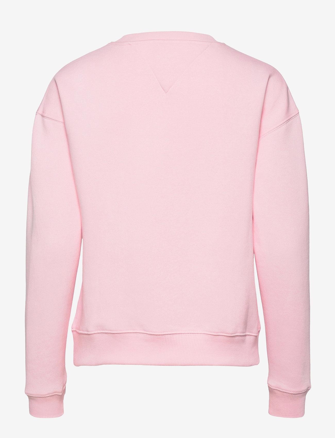 Tommy Jeans - TJW LINEAR CREW NECK - sweatshirts - romantic pink - 1