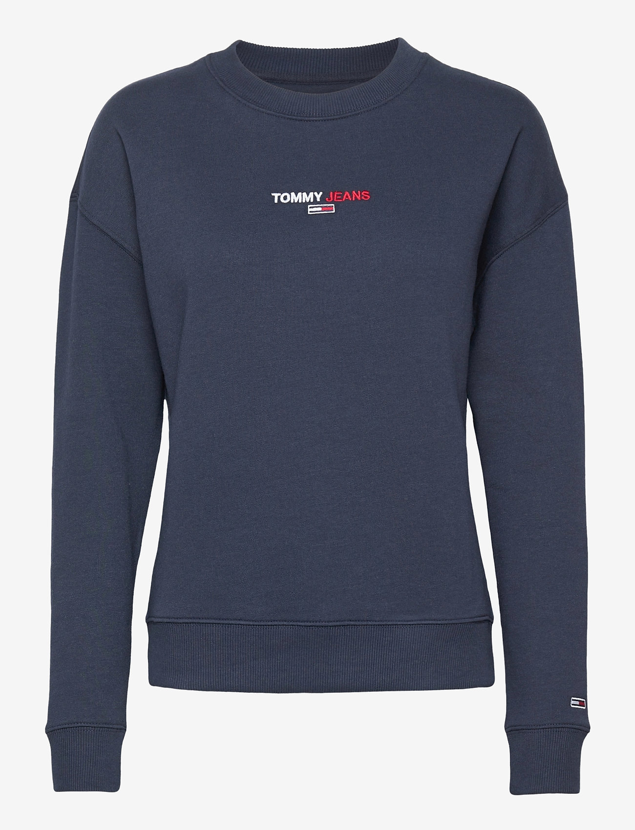 Tommy Jeans - TJW LINEAR CREW NECK - sweatshirts - twilight navy - 0