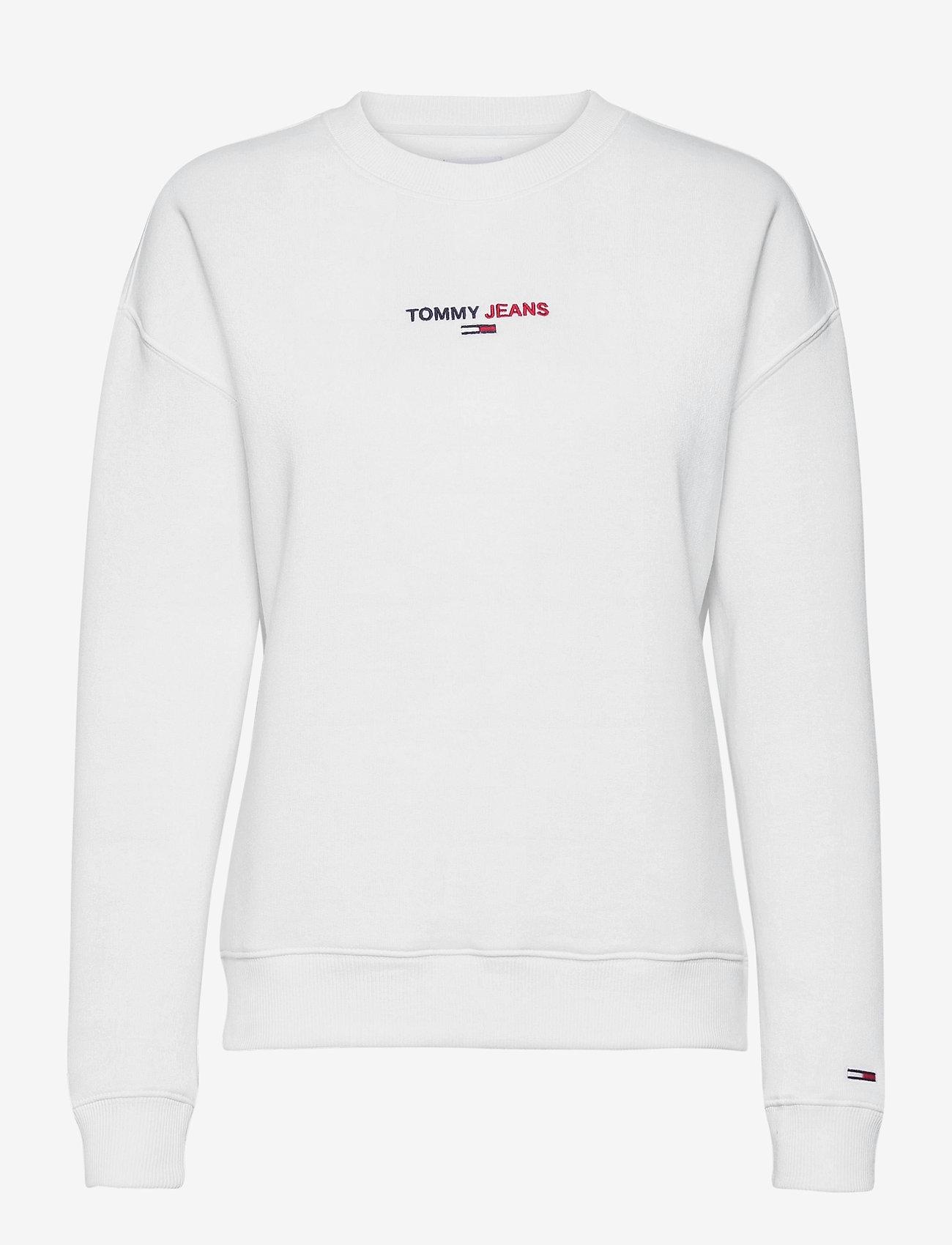 Tommy Jeans - TJW LINEAR CREW NECK - sweatshirts - white - 0