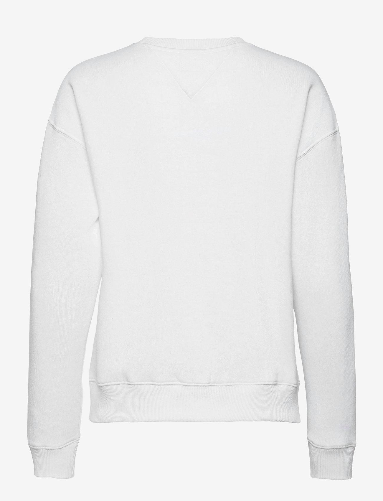 Tommy Jeans - TJW LINEAR CREW NECK - sweatshirts - white - 1