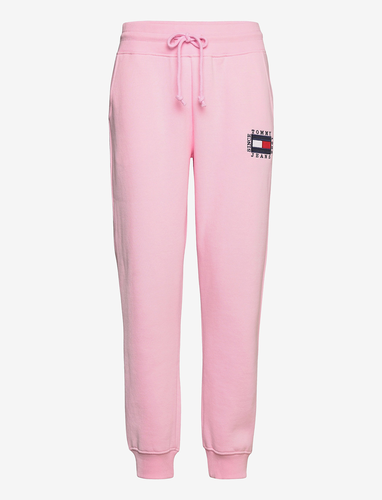 Tommy Jeans - TJW SLIM BOX FLAG SWEAT PANT - sweatpants - romantic pink - 0