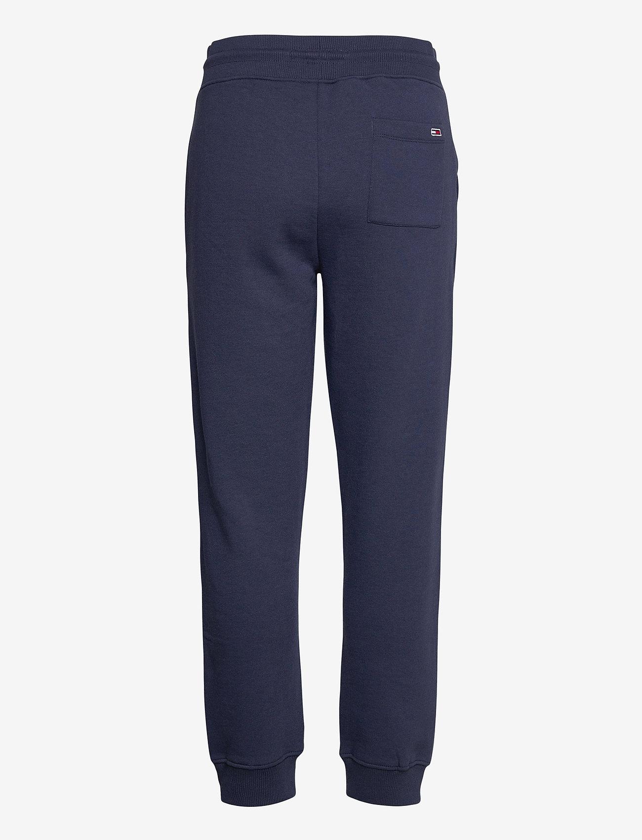 Tommy Jeans - TJW SLIM BOX FLAG SWEAT PANT - sweatpants - twilight navy - 1